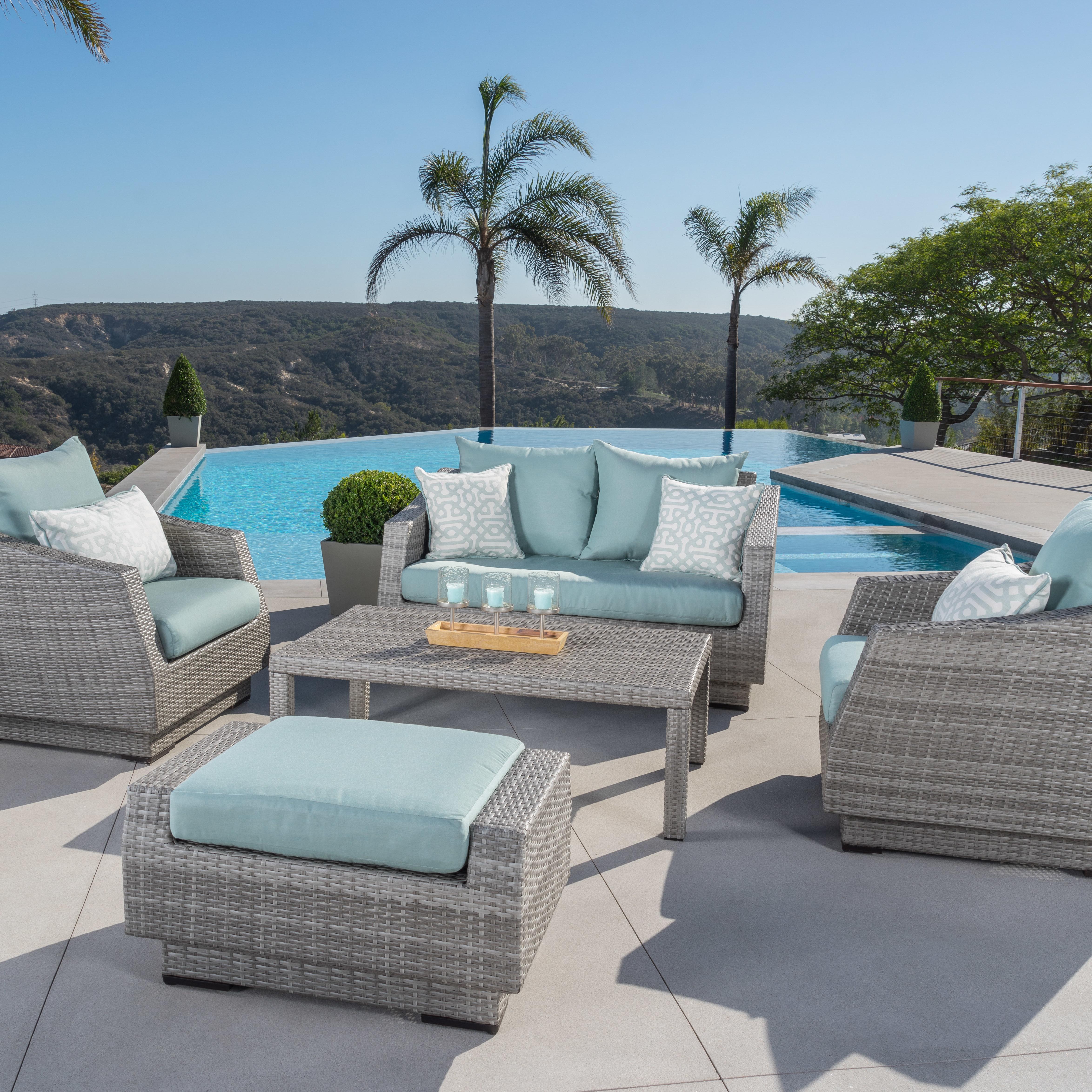 Latest Castelli 5 Piece Sunbrella Sofa Set With Cushions With Castelli Loveseats With Cushions (View 10 of 20)