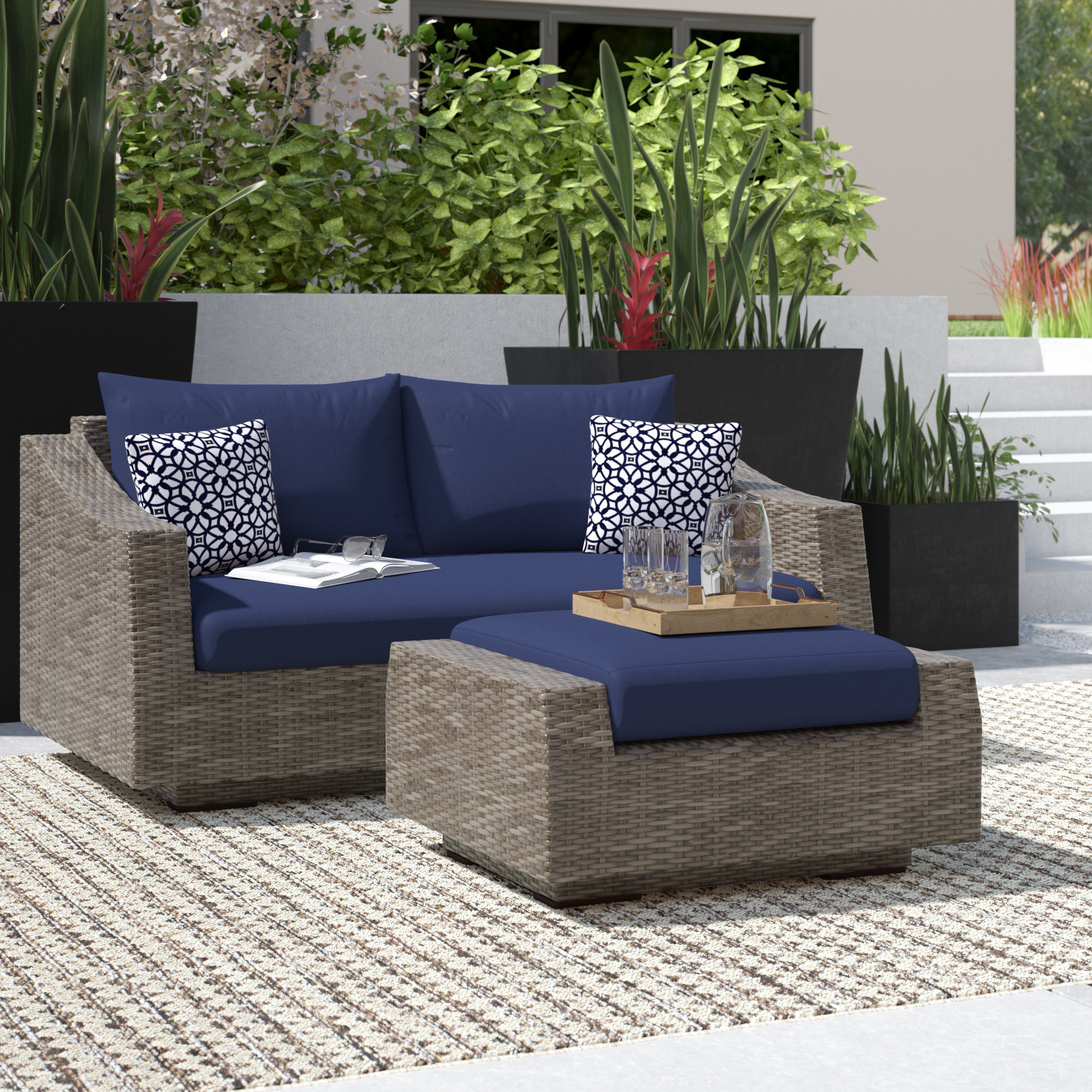 Latest Castelli Loveseat With Cushions With Northridge Loveseats With Cushions (View 7 of 20)