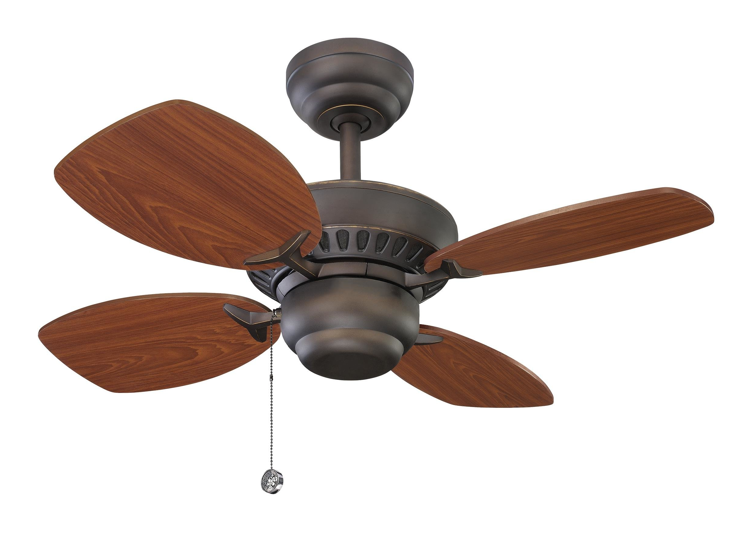 "Latest Charlton Home 28"" Stewardson 4 Blade Ceiling Fan Pertaining To Saito 6 Blade Ceiling Fans (View 10 of 20)"