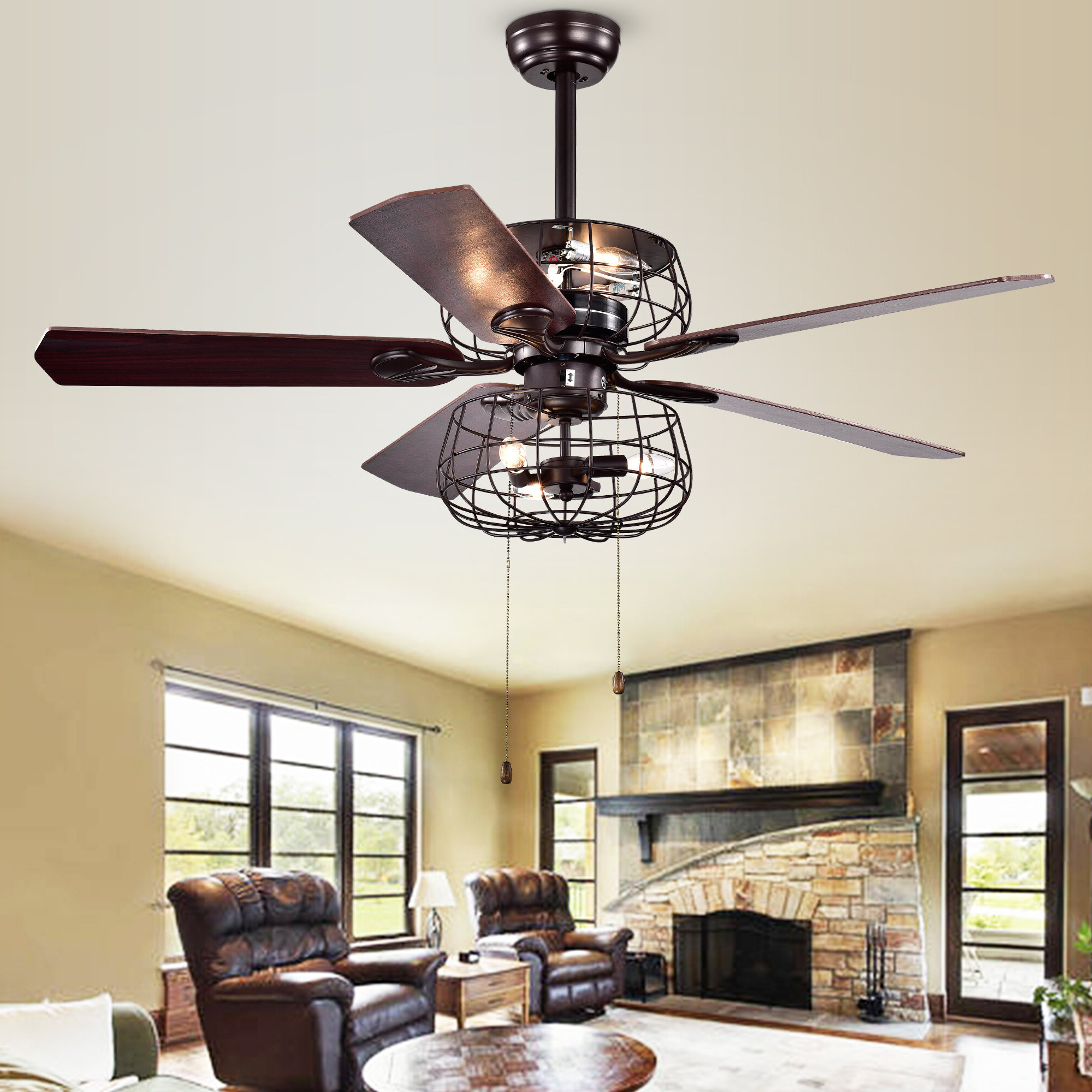 Latest Cranbrook 4 Blade Ceiling Fans With Regard To Kaiya 5 Blade Ceiling Fan, Light Kit Included (Gallery 9 of 20)