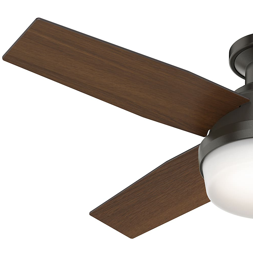 Latest Dempsey Low Profile 4 Blade Ceiling Fans With Remote With Regard To Hunter Dempsey 44 Led Low Profile (Gallery 11 of 20)