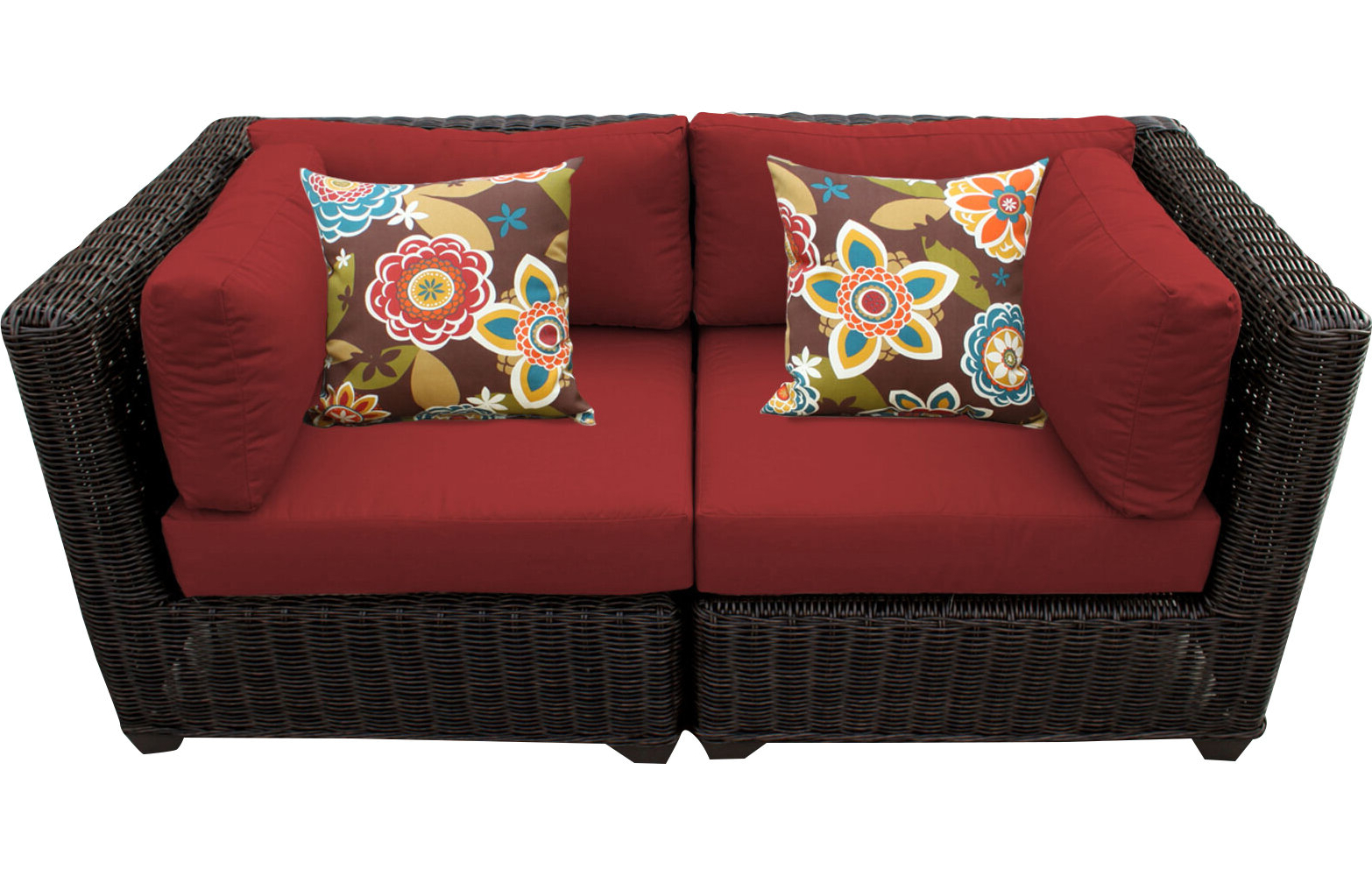 Latest Laverton Loveseats With Cushions For Fairfield Patio Loveseat With Cushions (View 3 of 20)