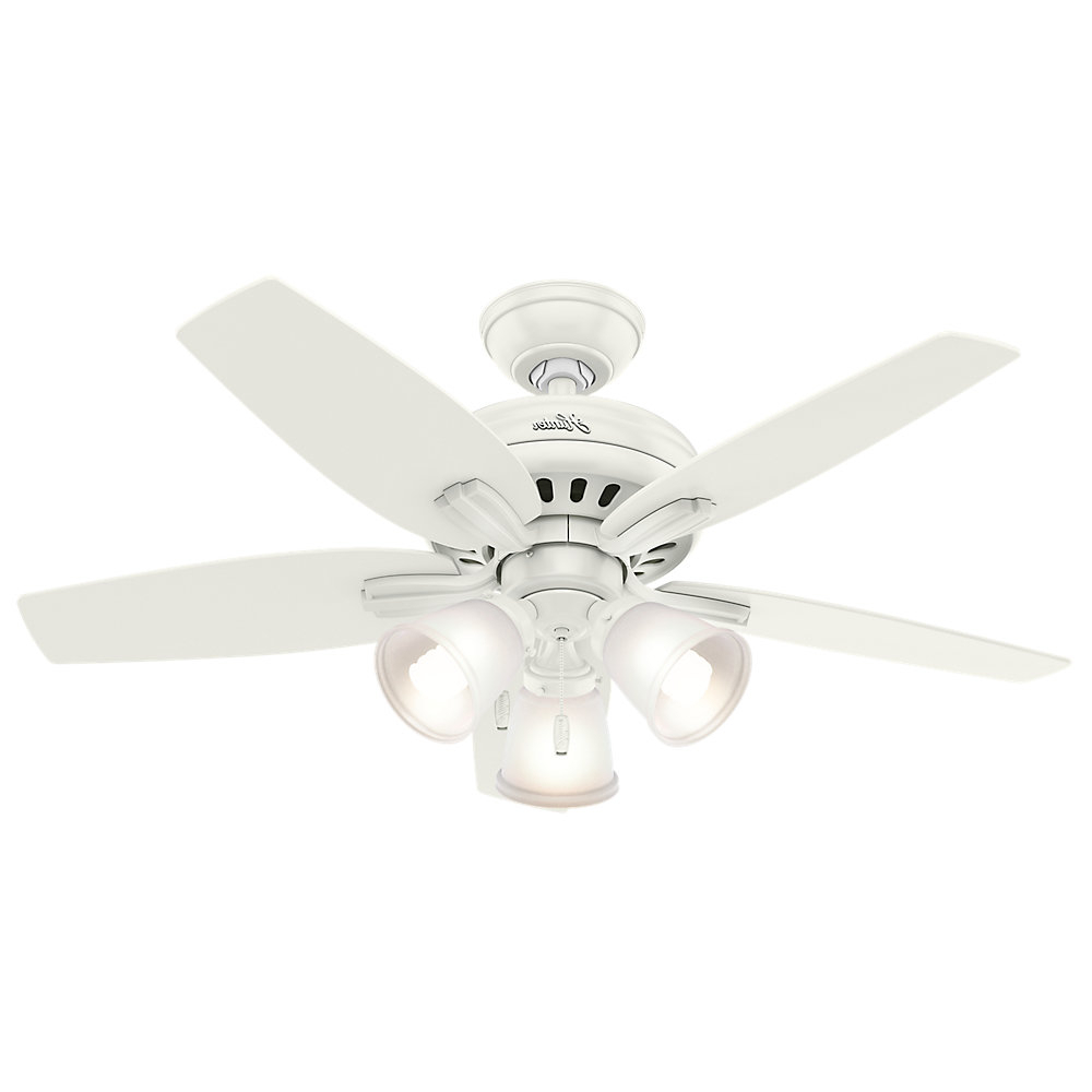 "Latest Newsome 5 Blade Ceiling Fans Pertaining To 42"" Newsome 5 Blade Ceiling Fan, Light Kit Included (View 9 of 20)"