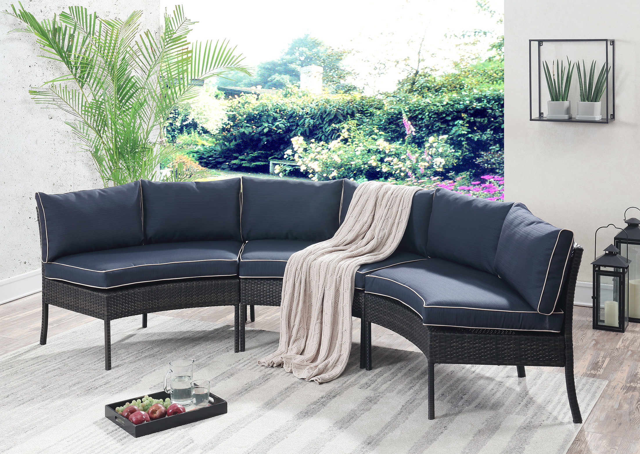 Latest Purington Circular Patio Sectional With Cushions Pertaining To Stockwell Patio Sofas With Cushions (View 6 of 20)