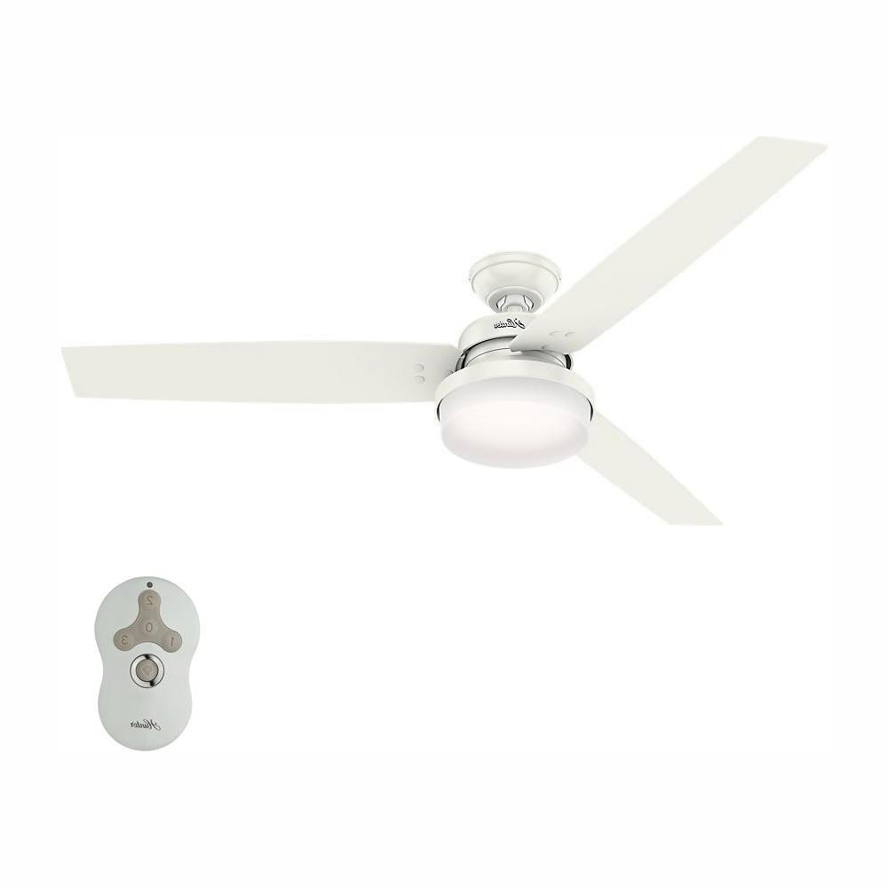 Latest Sentinel 3 Blade Led Ceiling Fans With Remote With Hunter Sentinel 60 In (View 7 of 20)