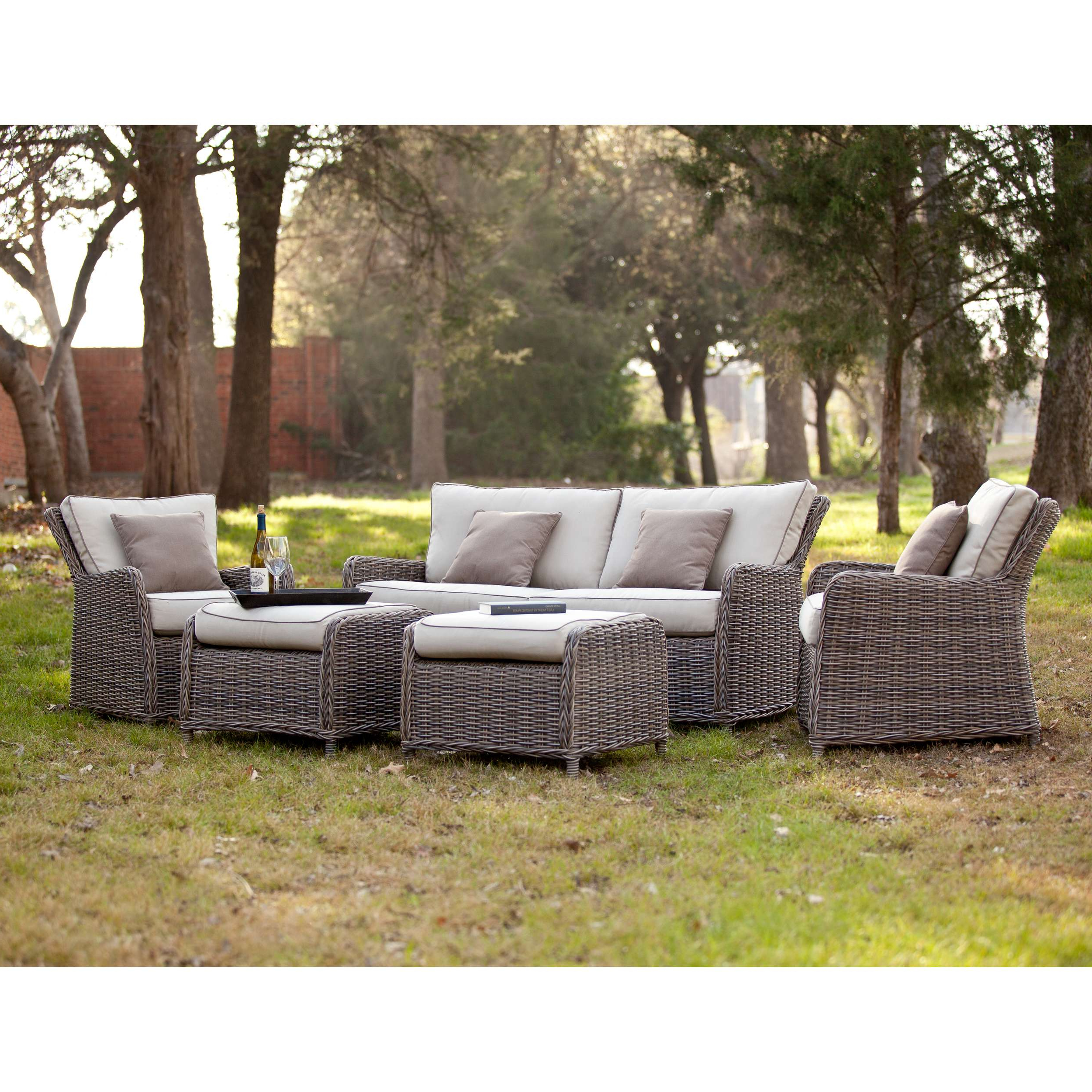 Latest Southern Enterprises Od5543 Intended For Avadi Outdoor Sofas & Ottomans 3 Piece Set (Gallery 9 of 25)