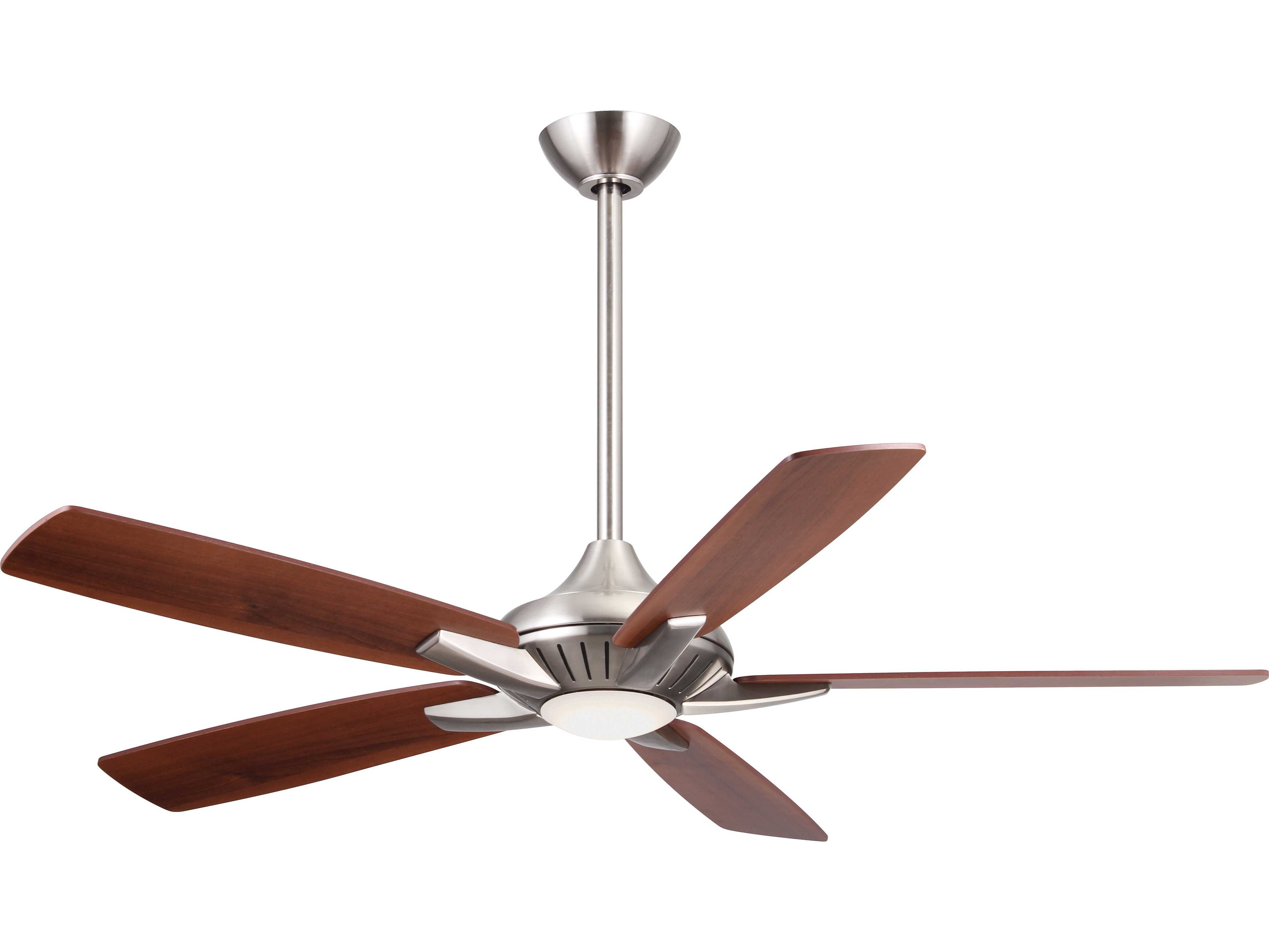 Latest Symbio 5 Blade Led Ceiling Fans Throughout Minka Aire Dyno Brushed Nickel 52'' Wide Led Indoor Ceiling Fan (View 7 of 20)