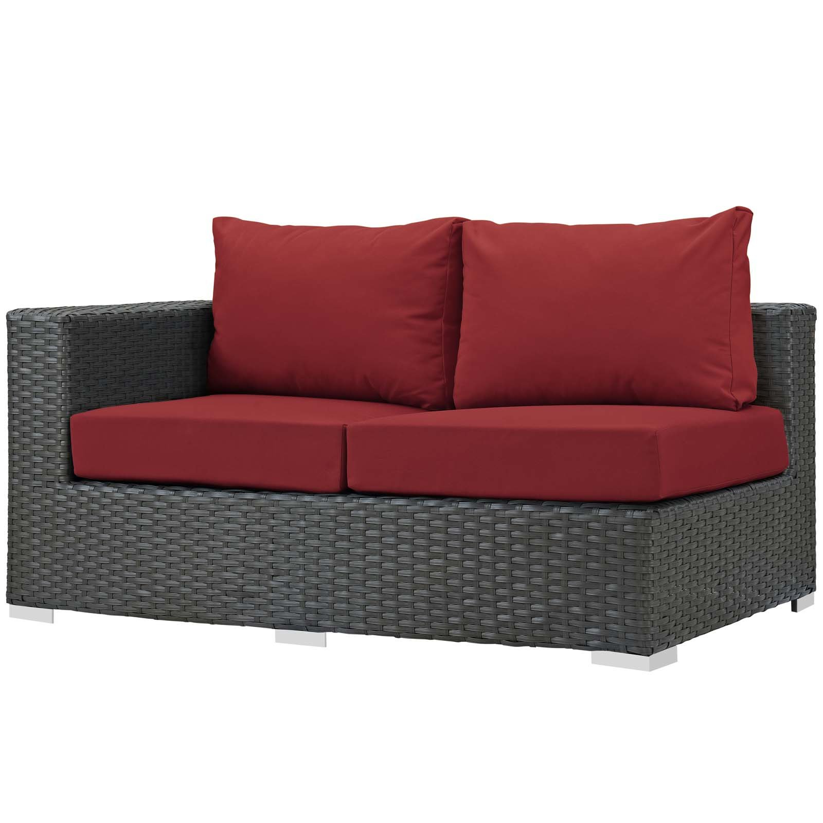 Latest Tripp Right Arm Loveseat Sectional Piece With Cushions Throughout Tripp Loveseats With Cushions (View 3 of 20)