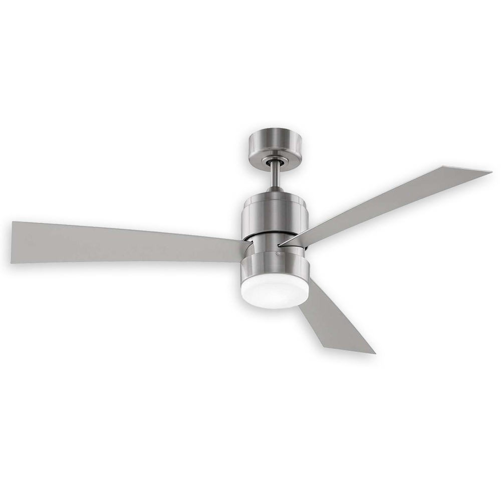 Latest Zonix 3 Blade Ceiling Fans For Fanimation Zonix Led Ceiling Fan Fp4650Bn – Brushed Nickel W (Gallery 6 of 20)