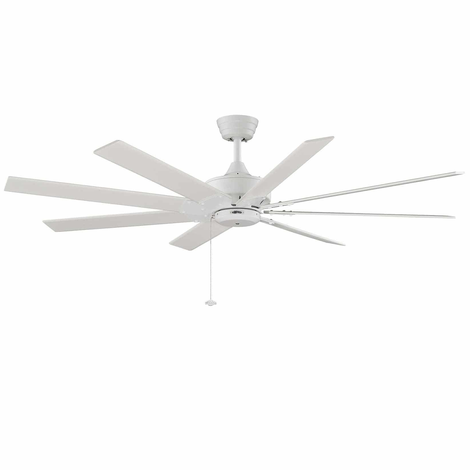 "Levon 8 Blade Ceiling Fans Regarding Most Current Details About Fanimation Levon Matte White 63"" 8 Blade Ceiling Fan – Blades Included (View 2 of 20)"