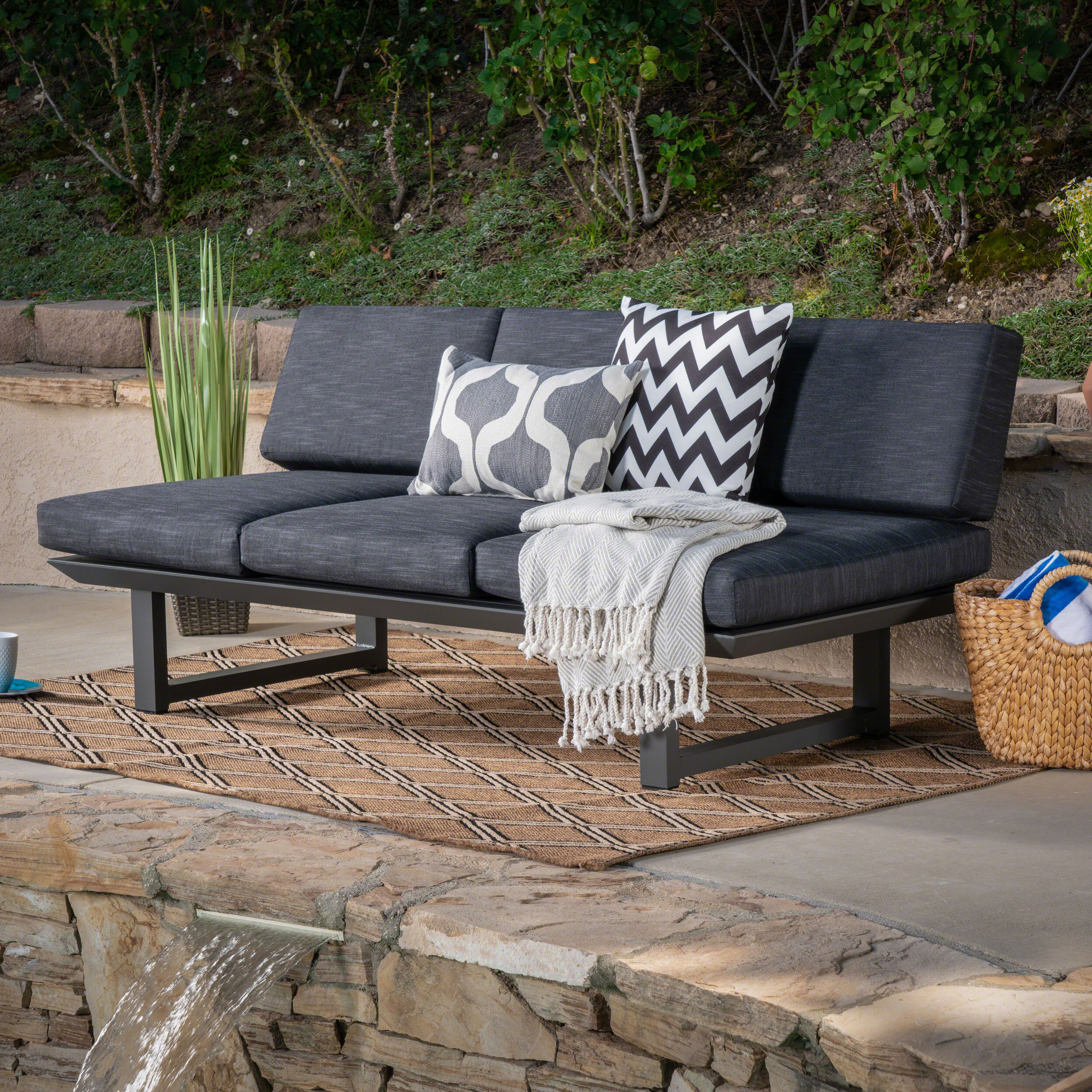Lobdell Patio Sofa With Cushions Within Most Recent Baltic Patio Sofas With Cushions (Gallery 22 of 25)