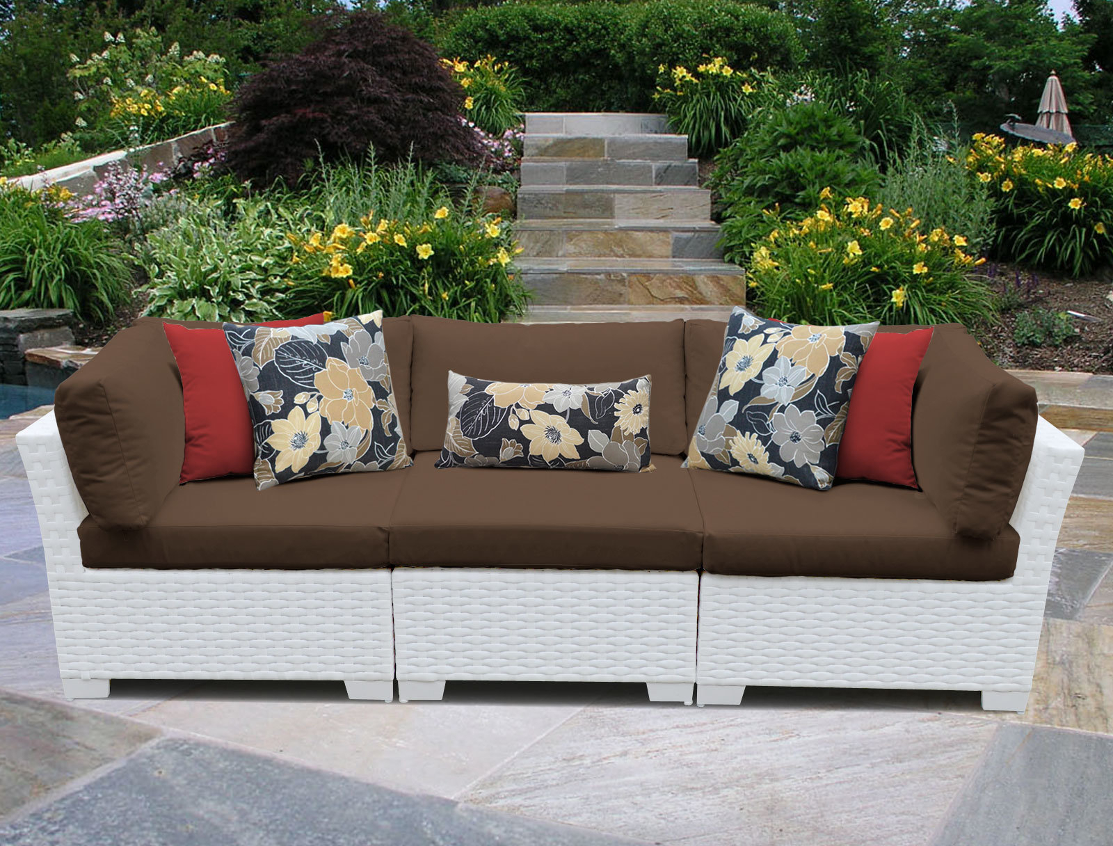 Loggins Patio Sofas With Cushions Throughout Most Recently Released Monaco Patio Sofa With Cushions (View 10 of 20)