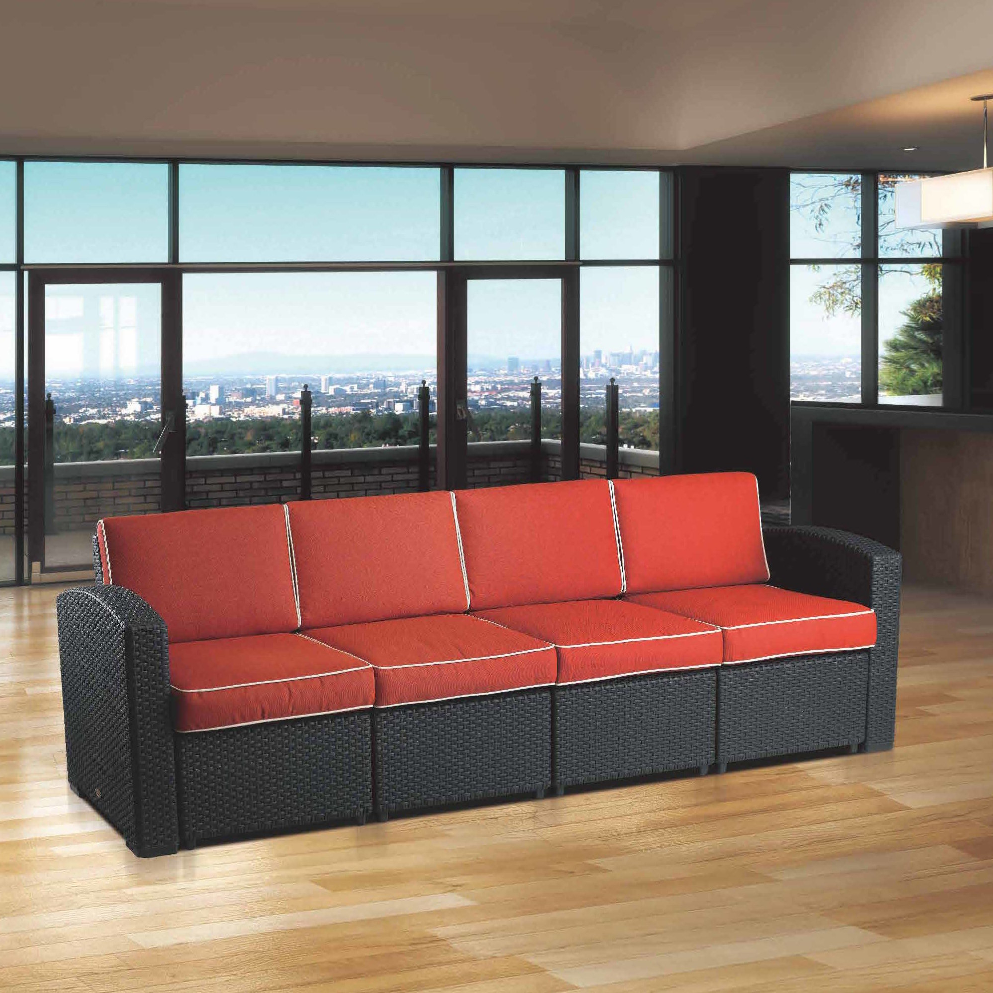 Loggins Patio Sofas With Cushions With Recent Brayden Studio Loggins Patio Sofa With Cushions & Reviews (View 11 of 20)
