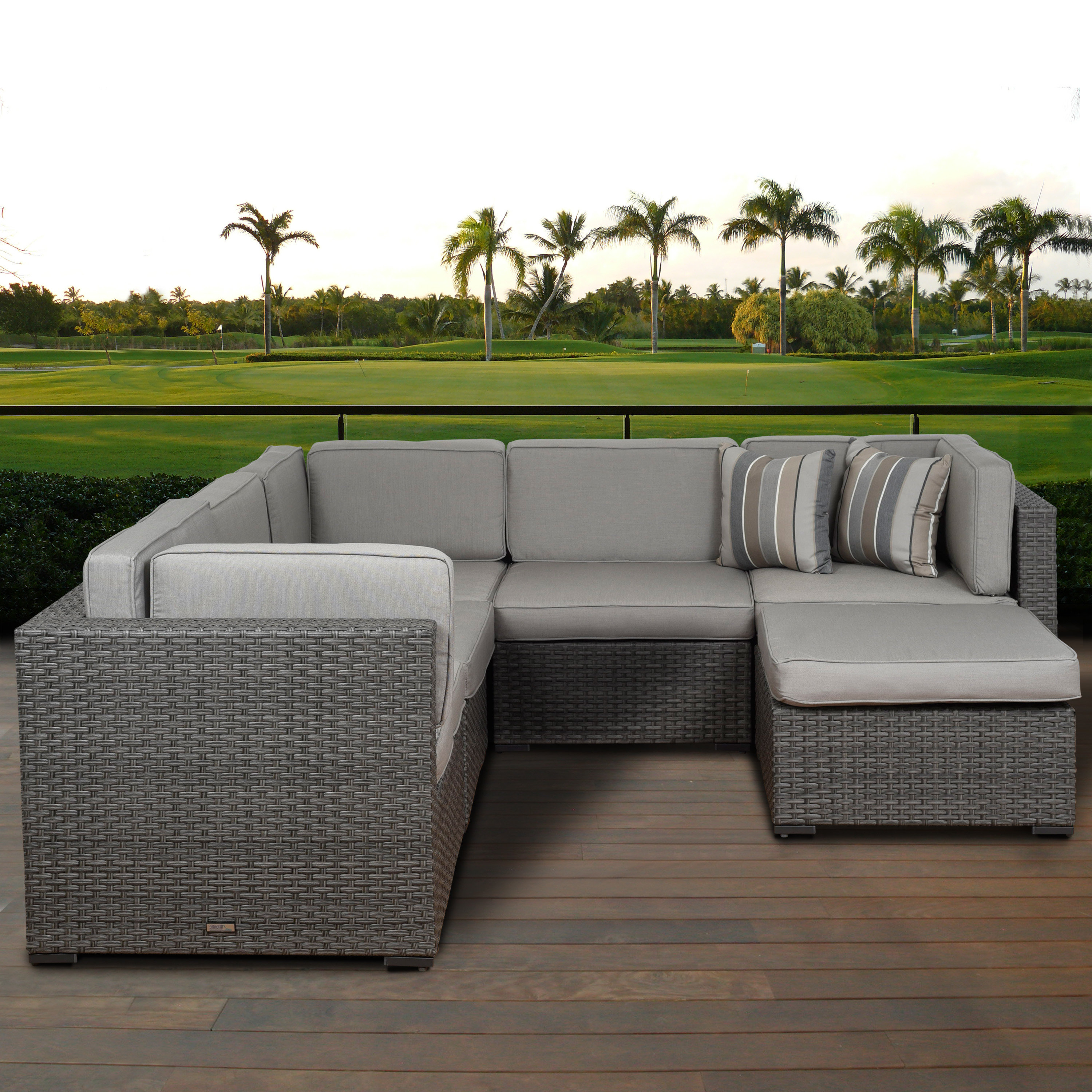 Lorentzen 6 Piece Sectional Seating Group With Cushions In Well Liked Lorentzen Patio Sectionals With Cushions (View 4 of 20)