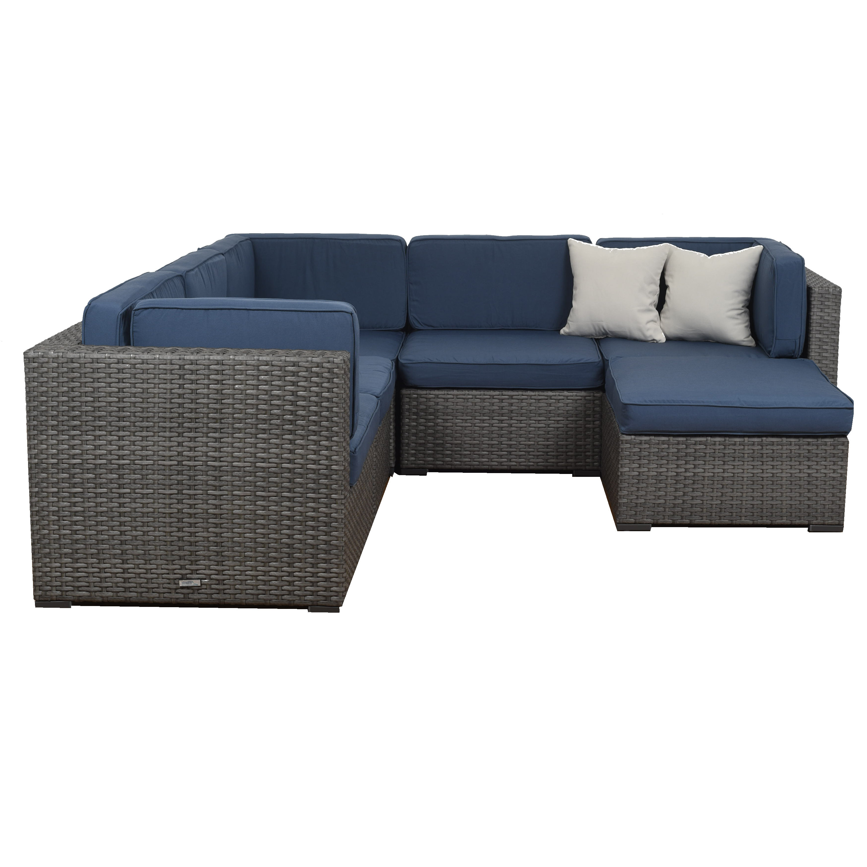 Lorentzen 6 Piece Sectional Set With Cushions Intended For Fashionable Lorentzen Patio Sectionals With Cushions (View 5 of 20)