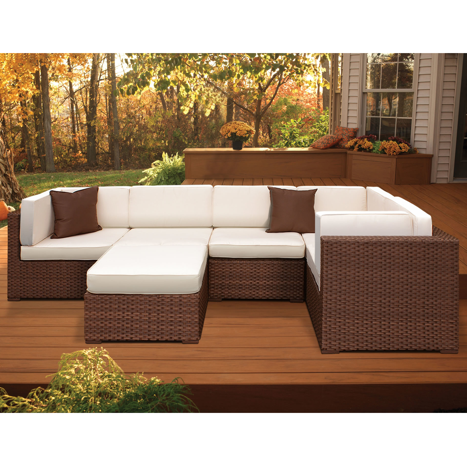 Lorentzen Patio Sectionals With Cushions With Well Known Details About Brayden Studio Lorentzen 6 Piece Sectional Set With Cushions (View 15 of 20)