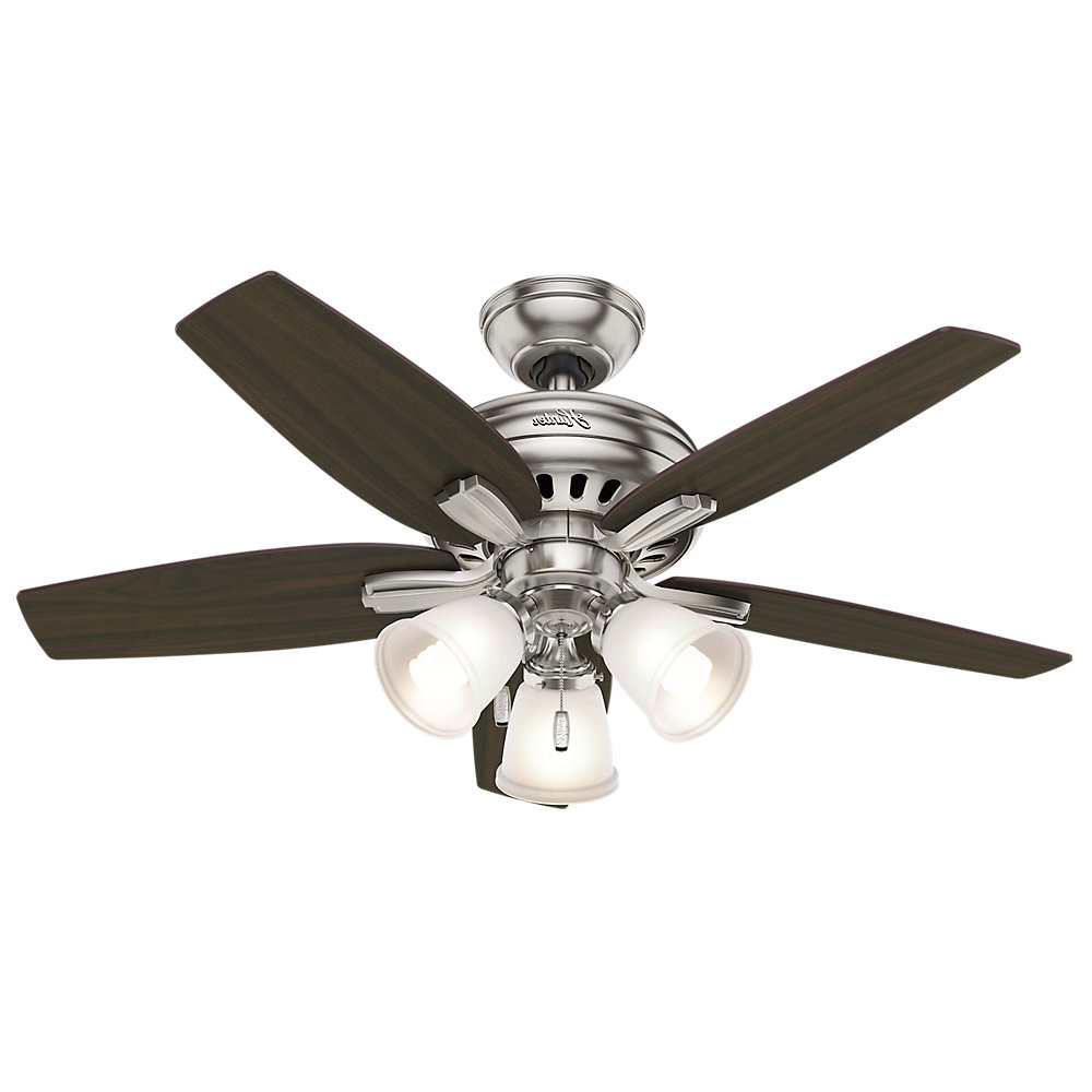 "Low Profile Iv 5 Blade Ceiling Fans In Trendy Hunter Fan 42"" Newsome 5 Blade Ceiling Fan, Light Kit (View 12 of 20)"