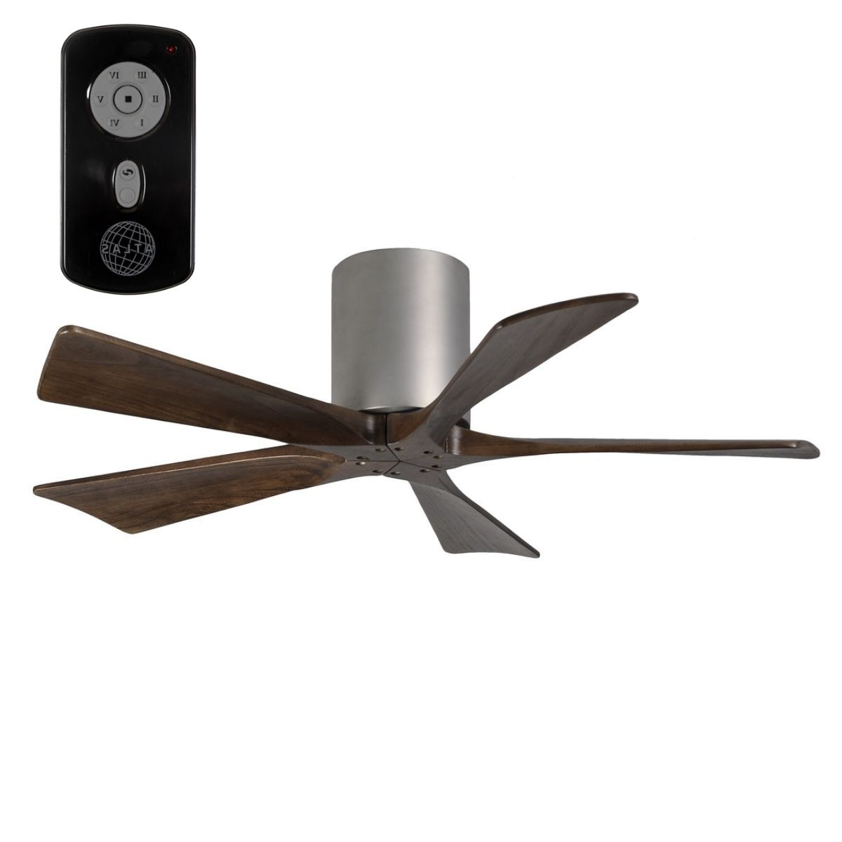 "Low Profile Iv 5 Blade Ceiling Fans Throughout Famous Atlas Irene 5 Hugger 42"" Dc Low Profile Timber Ceiling Fan (View 19 of 20)"