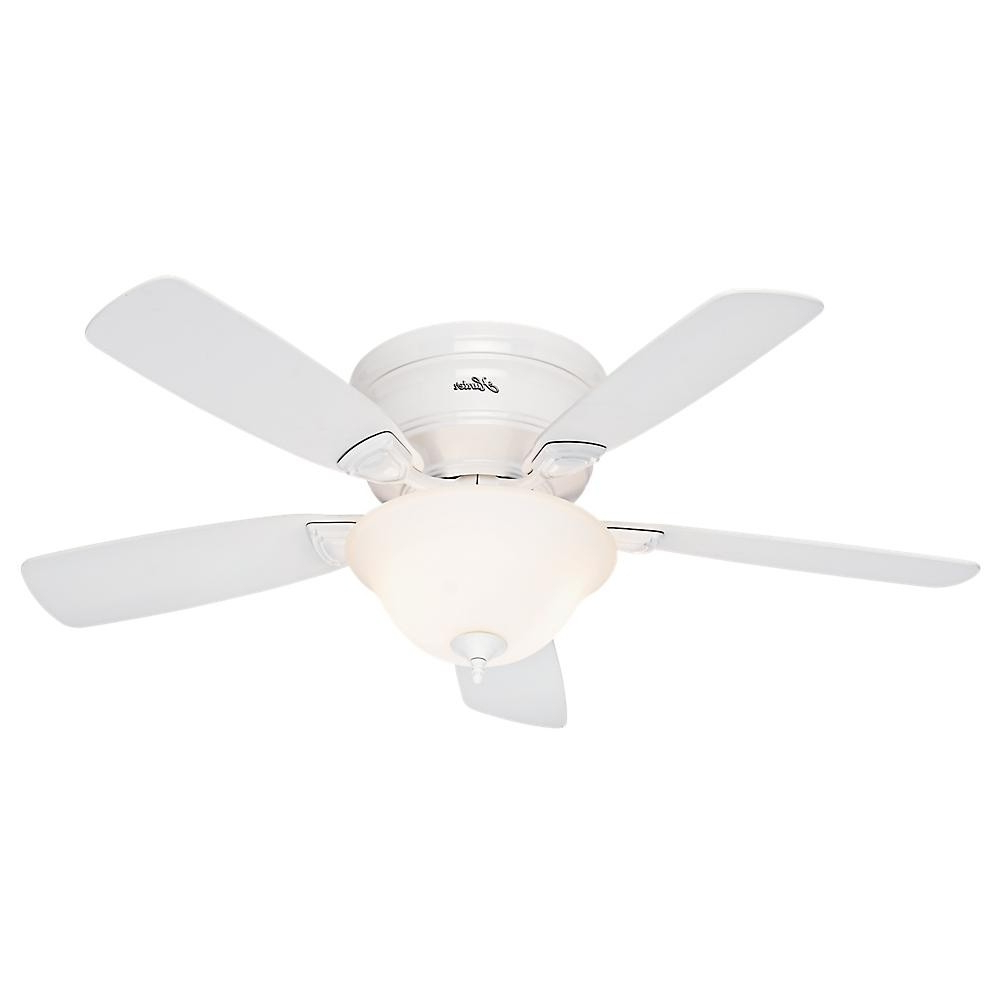 Low Profile Iv 5 Blade Ceiling Fans Throughout Most Current Hunter 48 Inch Low Profile Ceiling Fan Model (View 11 of 20)