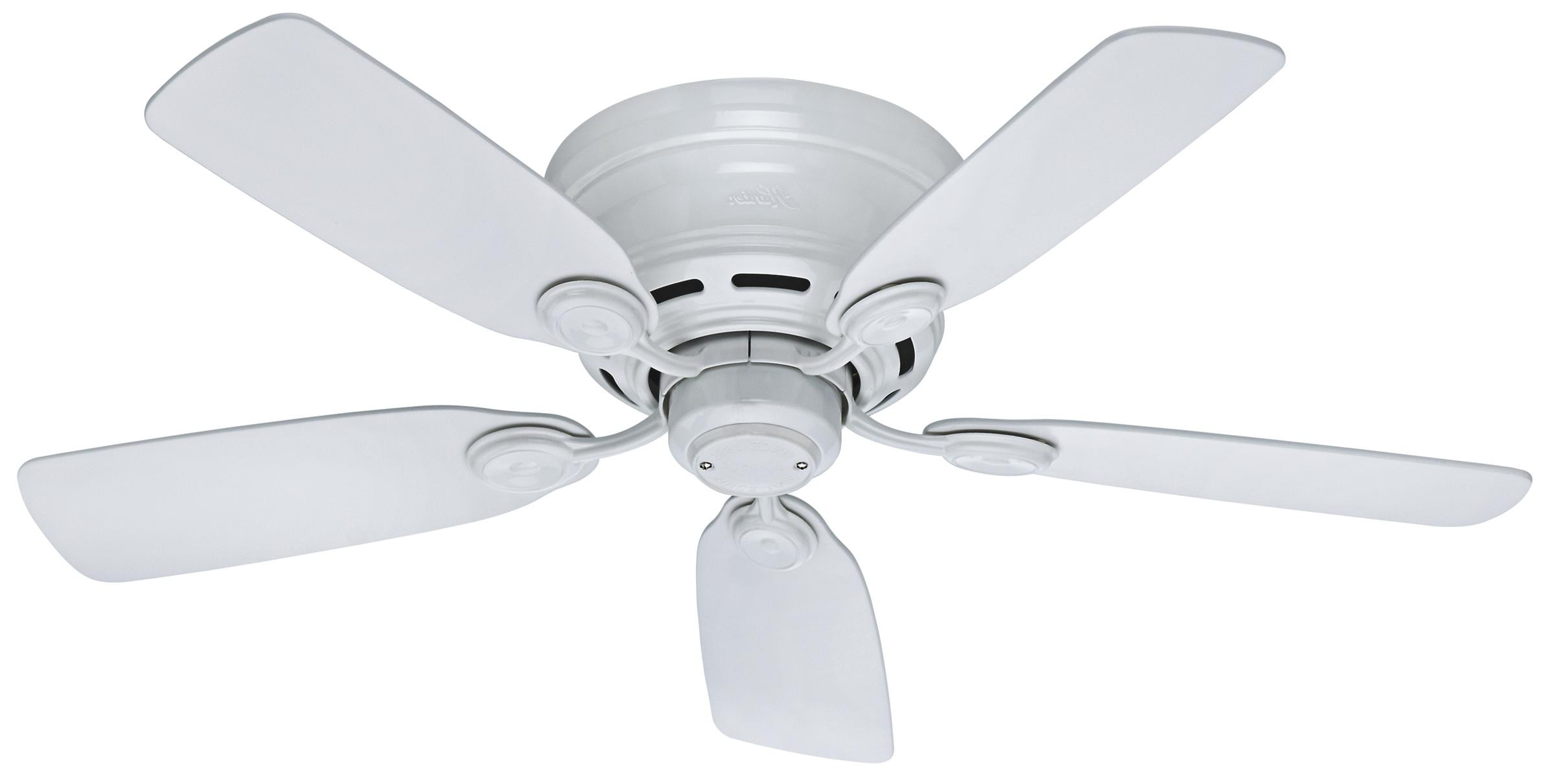 Low Profile Iv 5 Blade Ceiling Fans Throughout Most Popular Hunter 42 Inch Low Profile Iv Ceiling Fan Model (View 16 of 20)