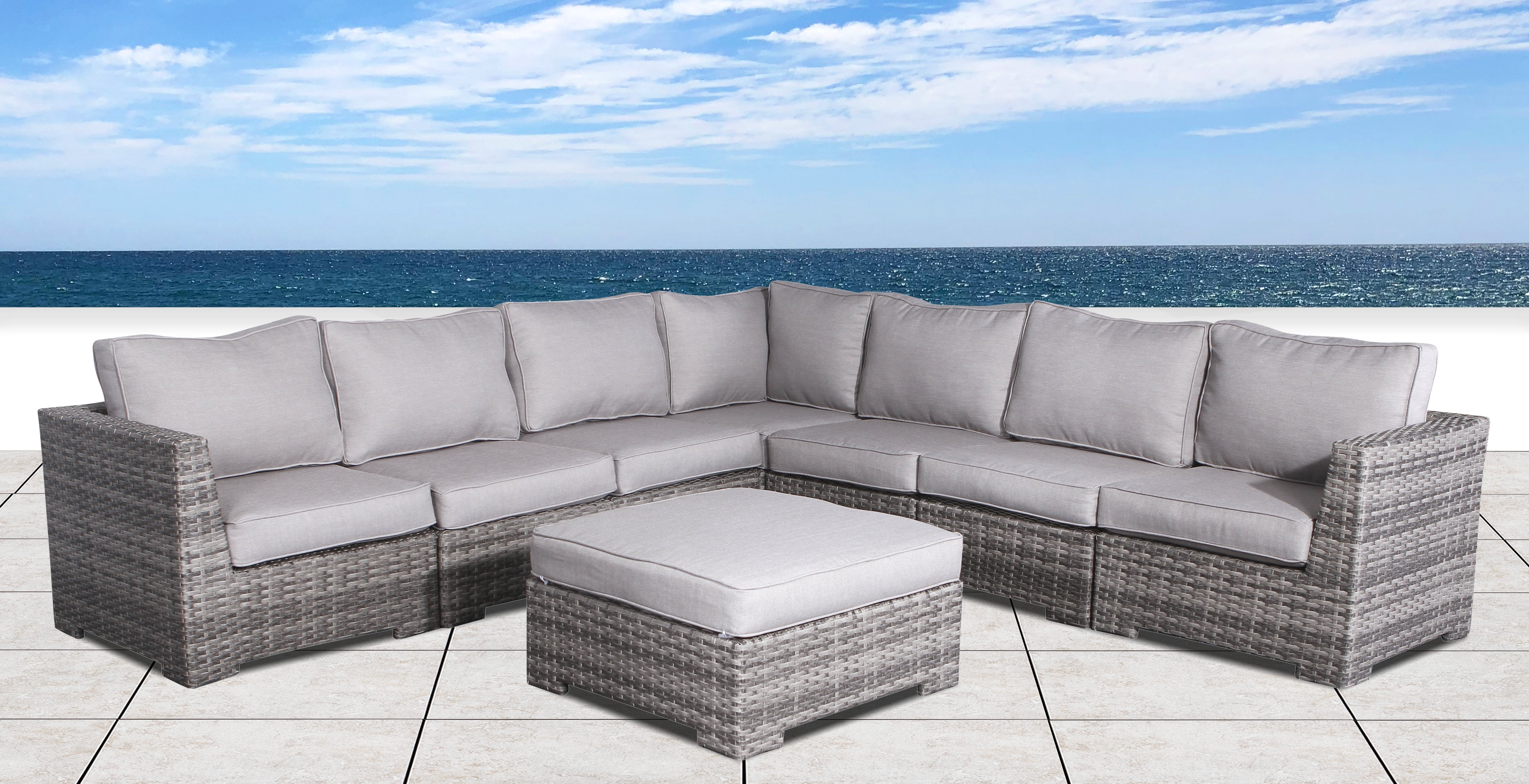 Madison Avenue Patio Sectionals With Sunbrella Cushions Intended For Most Popular Pierson Patio Sectional With Cushions (View 8 of 20)