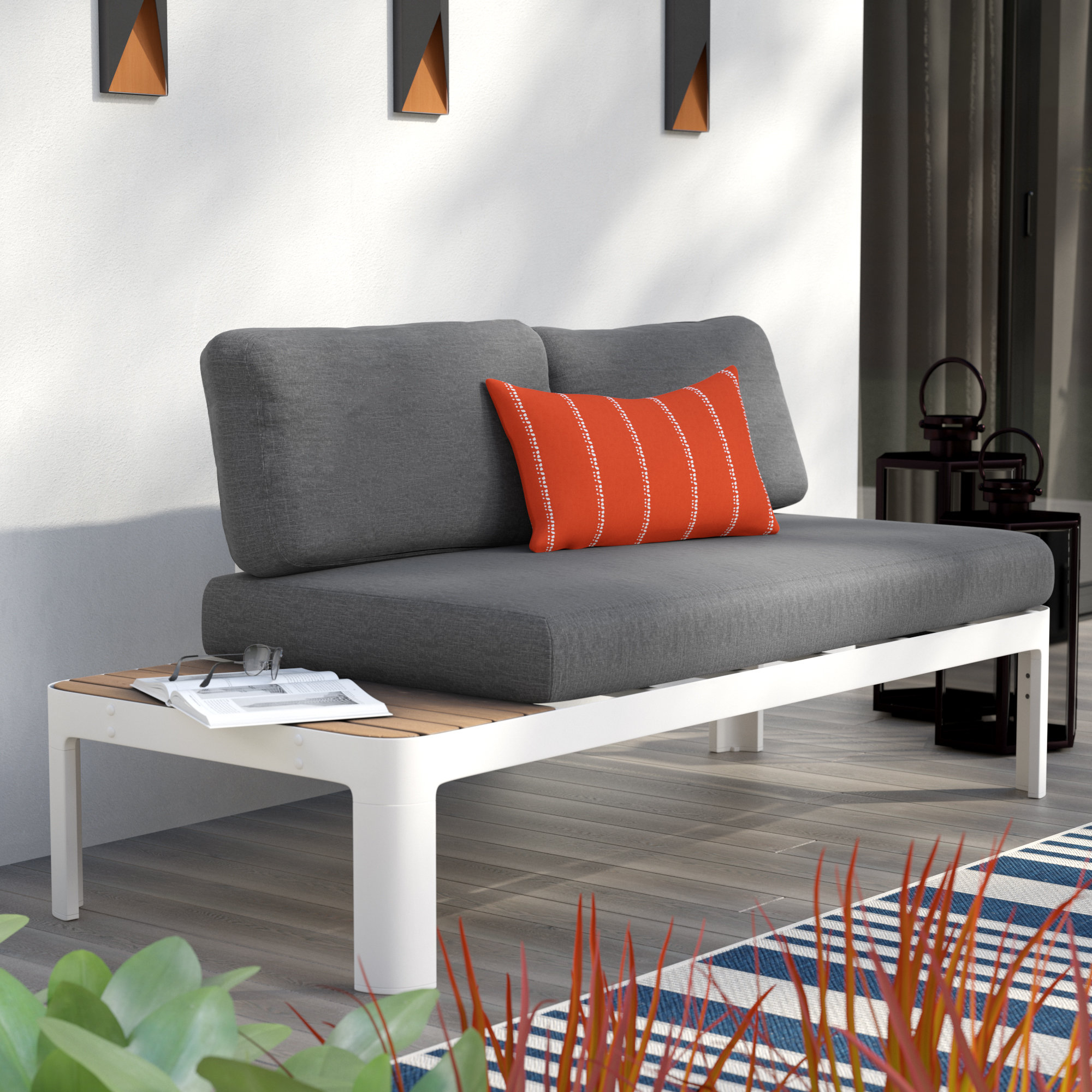 Mansfield Teak Loveseats With Cushion Pertaining To Well Liked Thora Teak Loveseat With Cushions (View 11 of 20)
