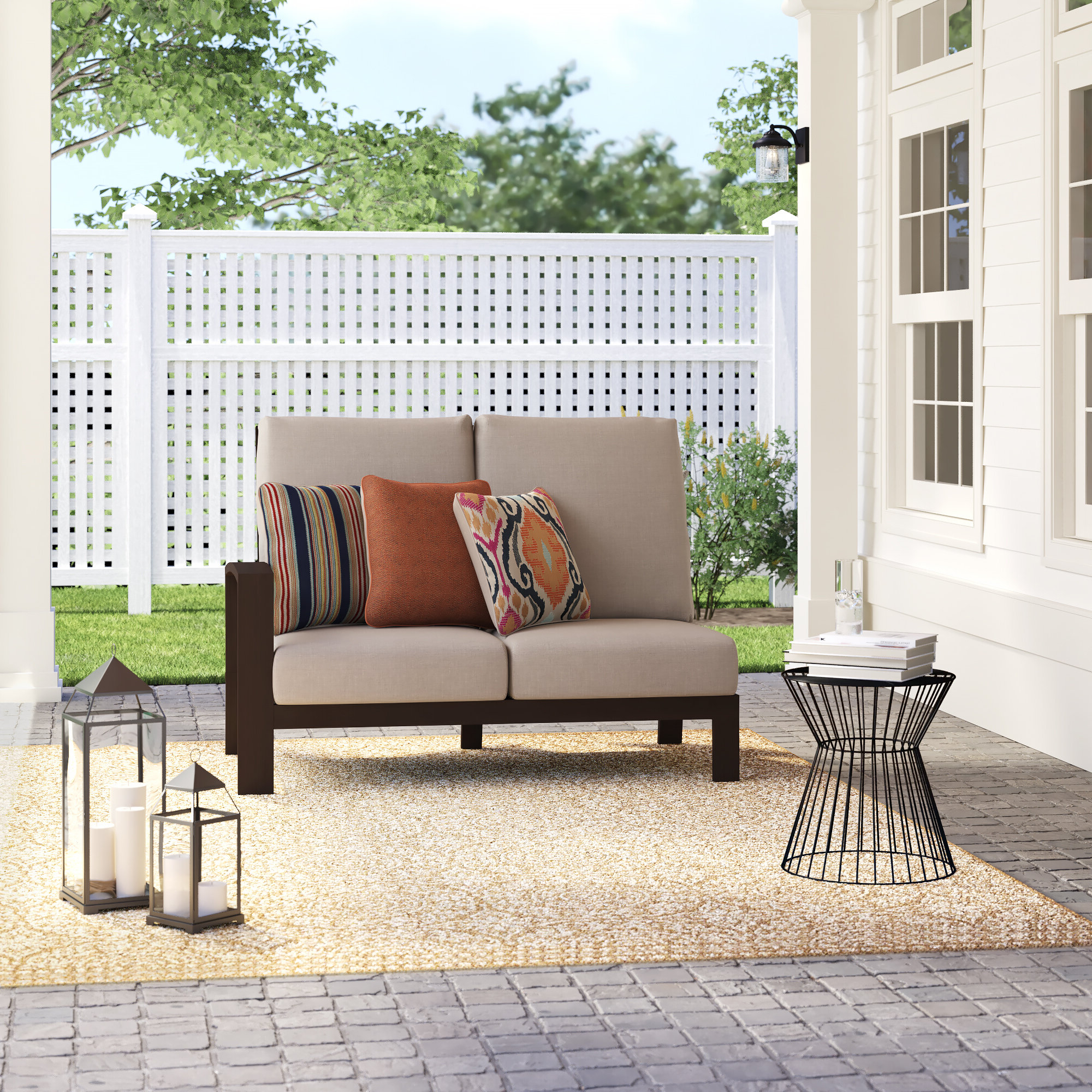 Mansfield Teak Loveseats With Cushion With Newest Jay Loveseat With Cushions (View 14 of 20)