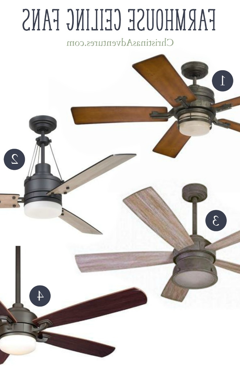 Marcoux 5 Blade Ceiling Fans Within Newest Where To Buy Farmhouse Ceiling Fans Online – Christinas (View 14 of 20)