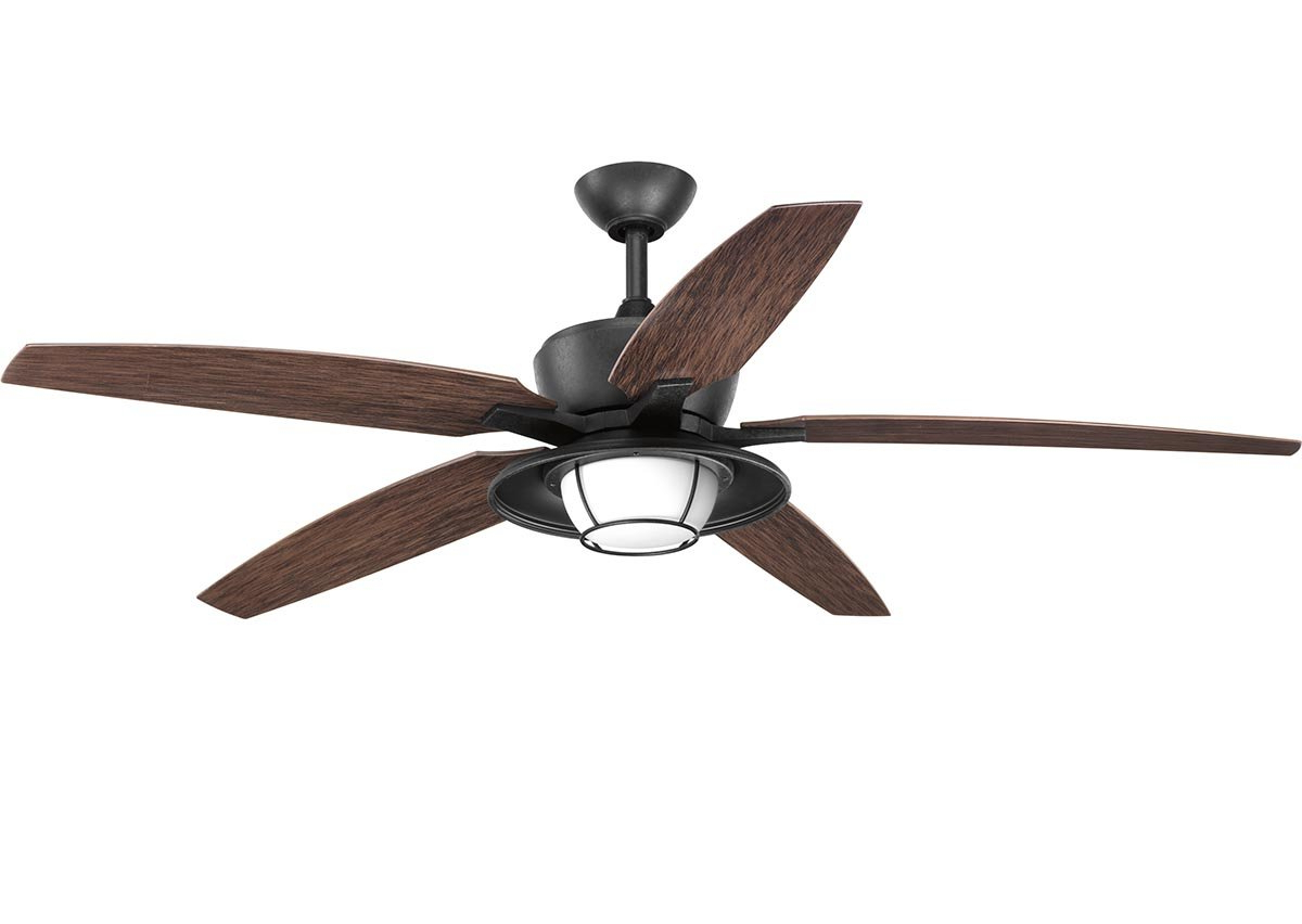 Martika 4 Blade Ceiling Fans For Favorite Milmont 5 Blade Outdoor Led Ceiling Fan With Remote (View 9 of 20)