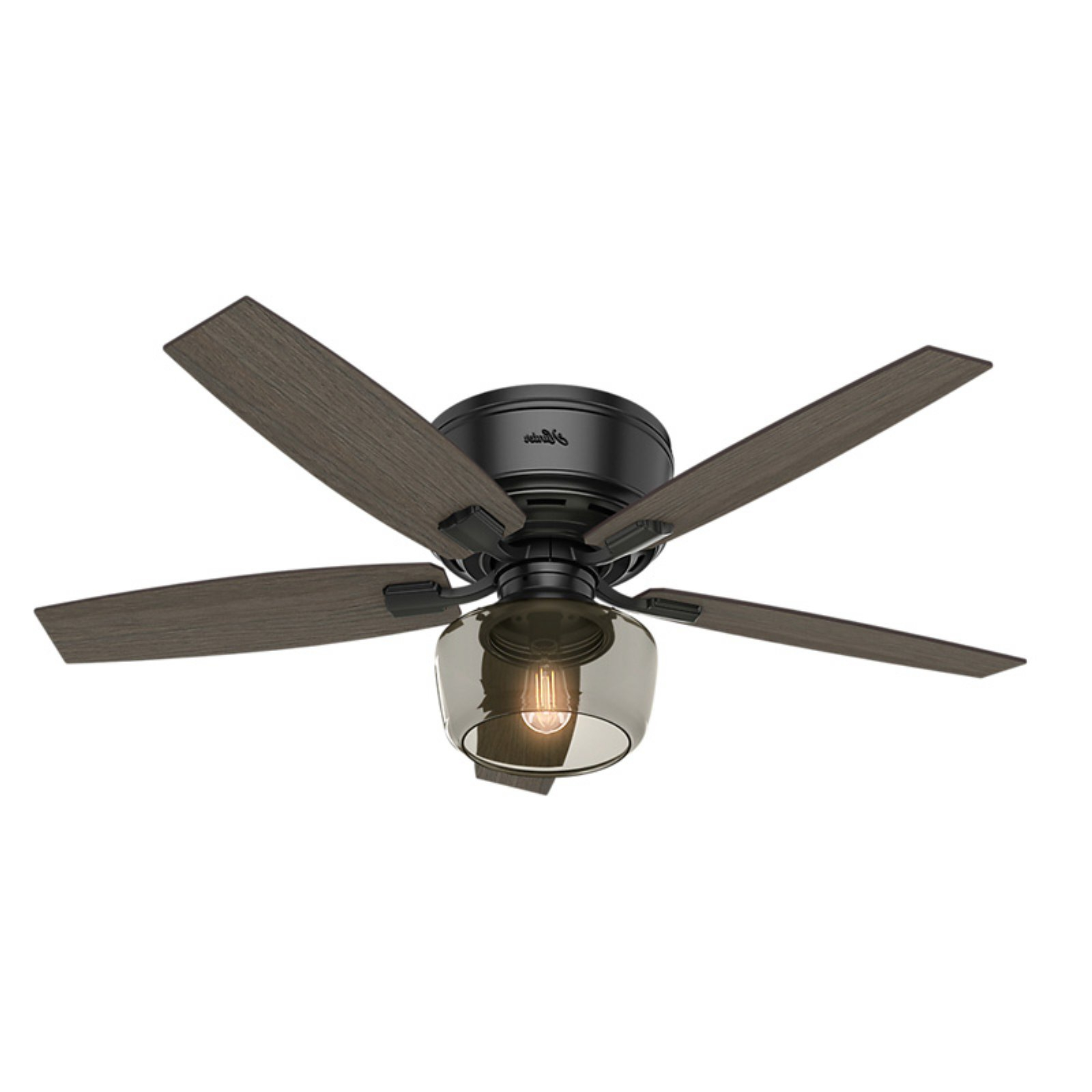 Martika 4 Blade Ceiling Fans With Regard To Most Up To Date Hunter Fan 52 Mill Valley Led Lighted Ceiling Fan Matte (View 16 of 20)