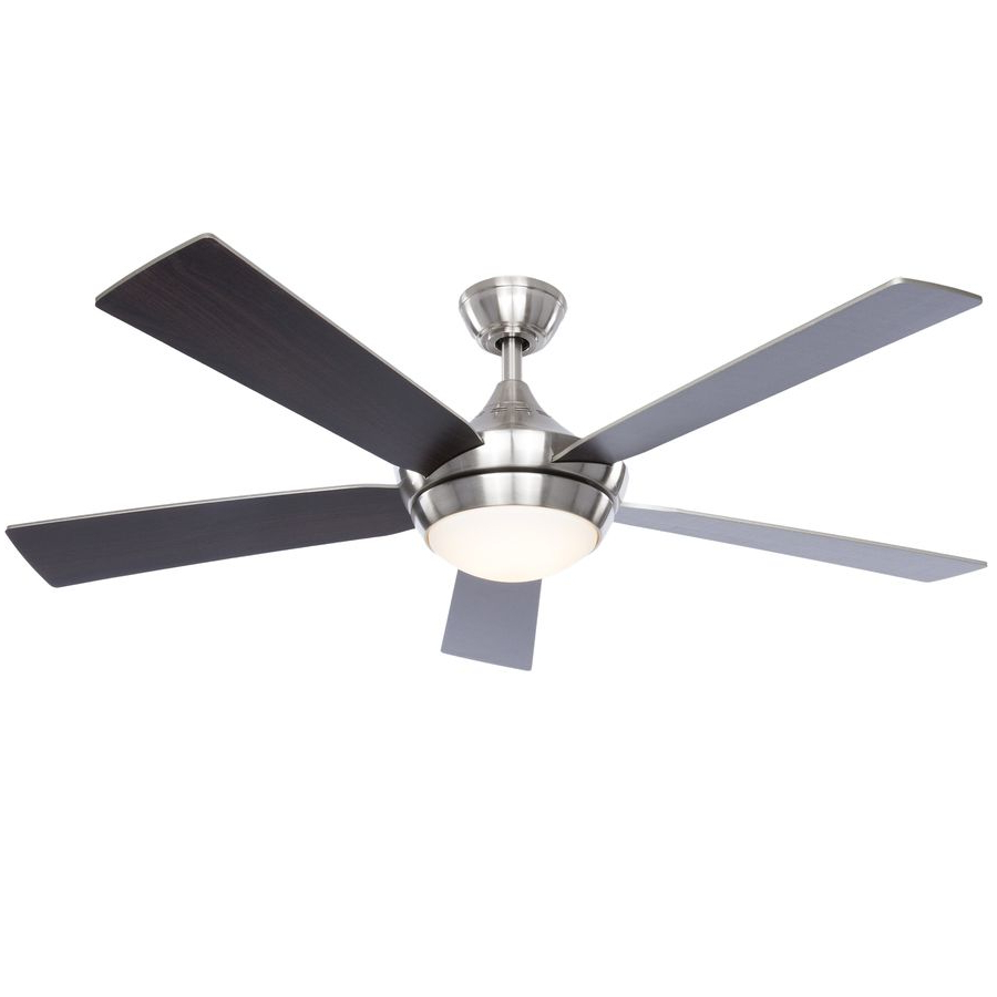 Mccarthy 5 Blade Ceiling Fans Pertaining To Popular Fanimation Studio Collection Aire Drop 52 In Brushed Nickel (View 16 of 20)