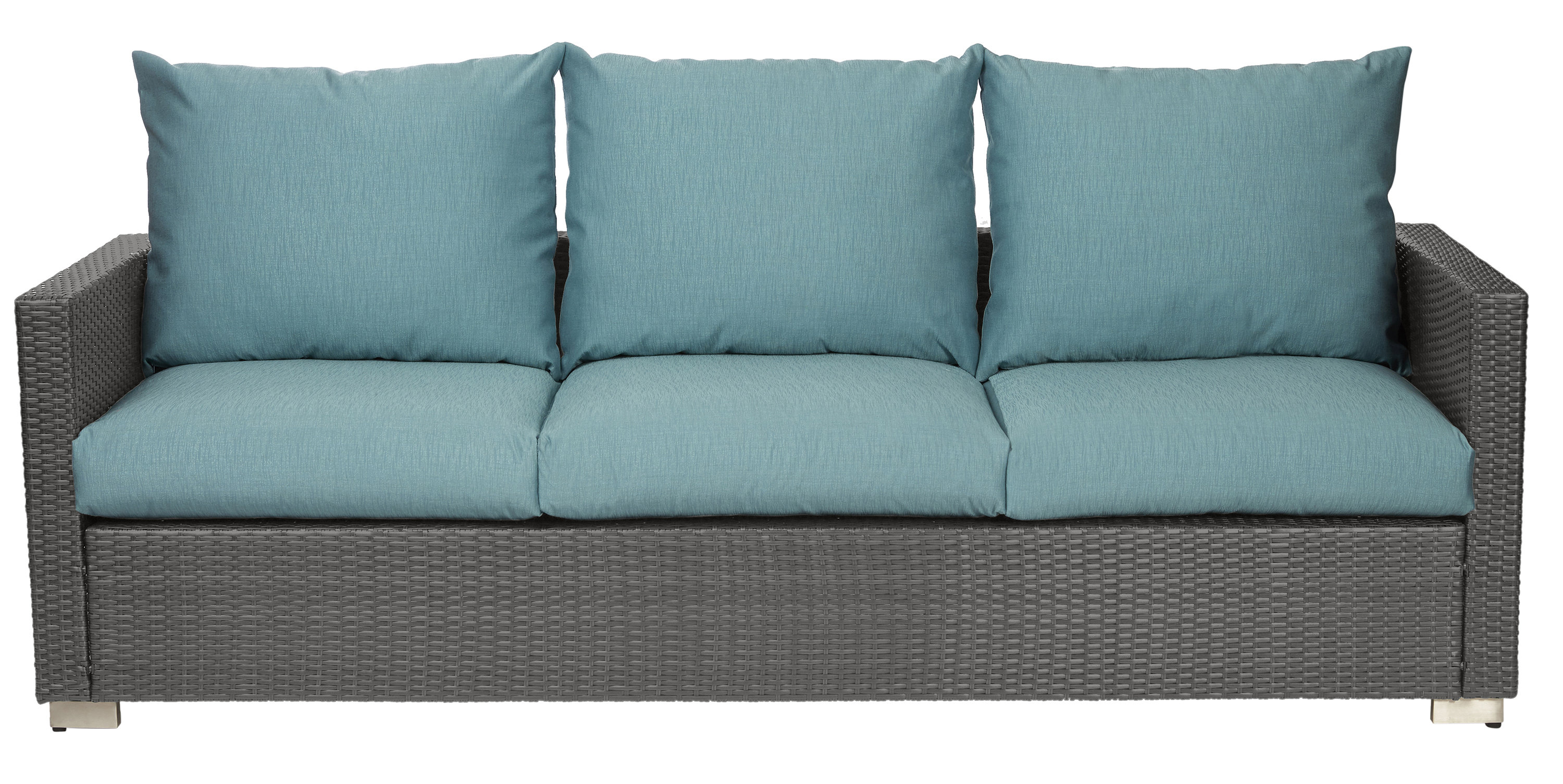Mcmanis Patio Sofa With Cushion In Most Recently Released Camak Patio Loveseats With Cushions (View 10 of 20)