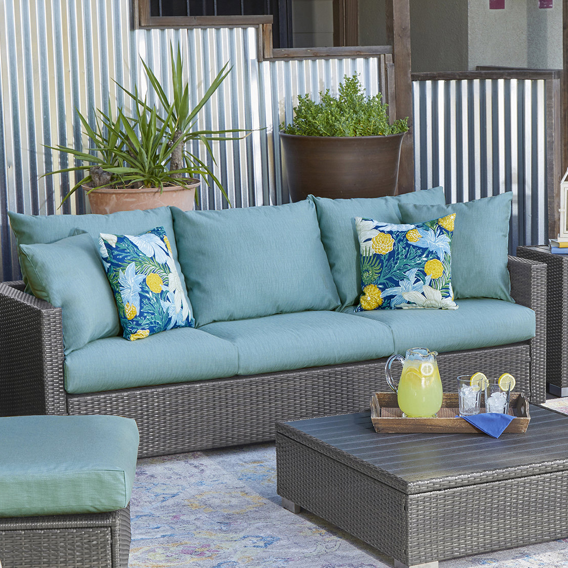 Mcmanis Patio Sofa With Cushion In Well Known Mcmanis Patio Sofas With Cushion (View 5 of 20)