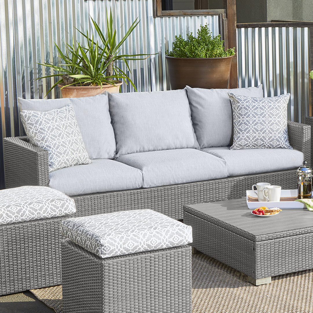 Mcmanis Patio Sofa With Cushion Intended For Popular Clifford Patio Sofas With Cushions (View 7 of 20)