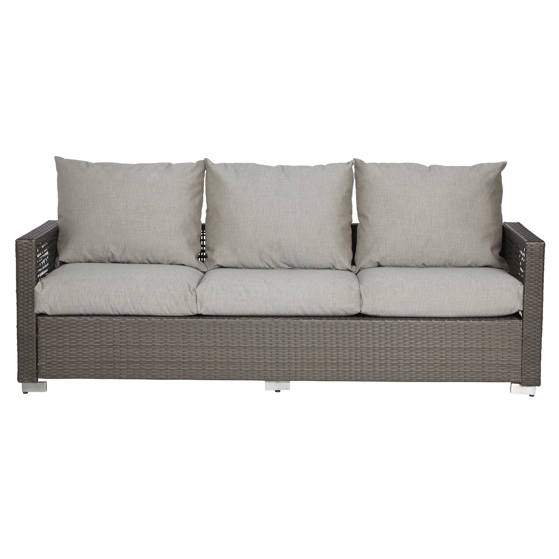Mcmanis Patio Sofa With Cushions Inside Popular Loggins Patio Sofas With Cushions (View 13 of 20)