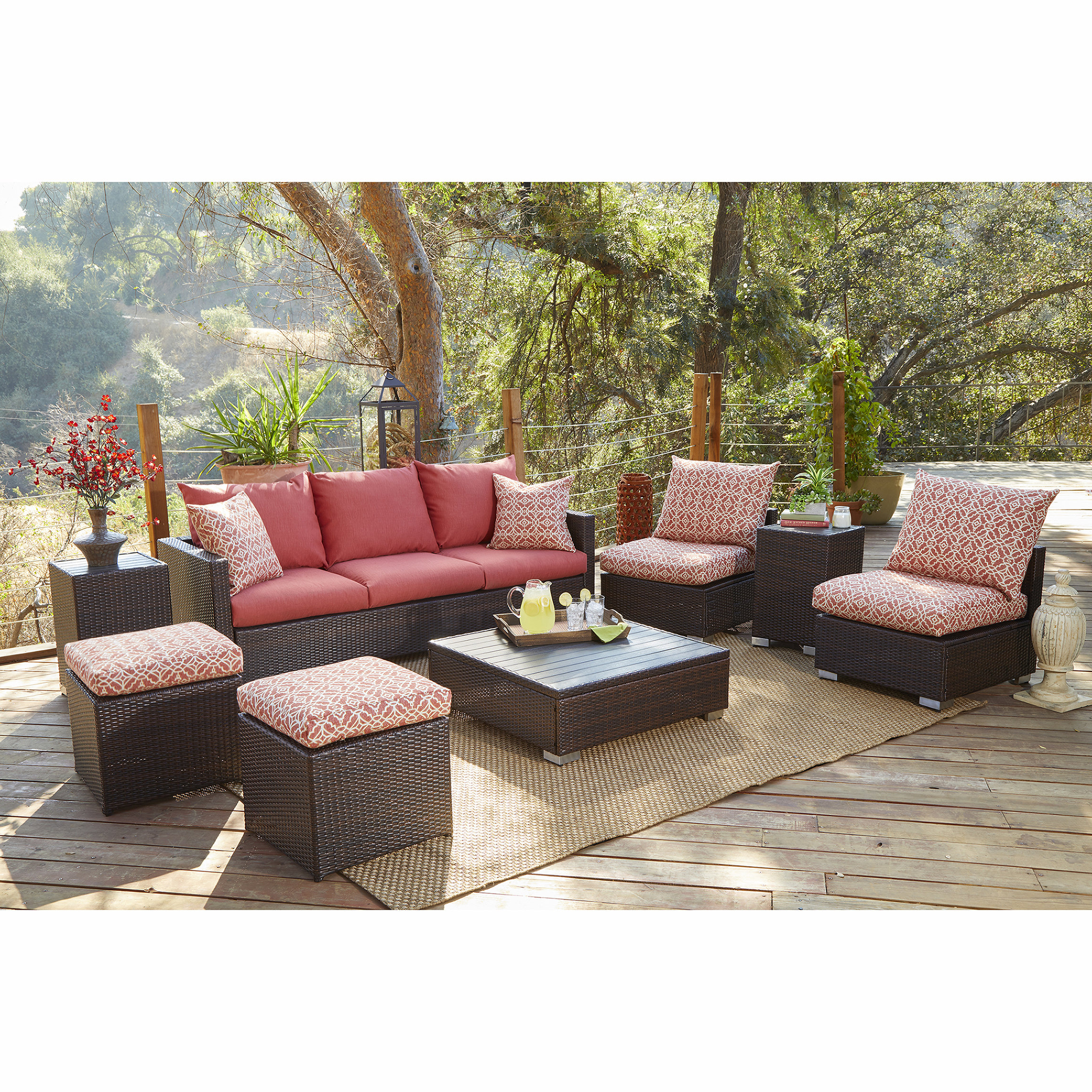 Mcmanis Patio Sofas With Cushion With Most Popular Mcmanis 8 Piece Sofa Seating With Cushions (View 15 of 20)