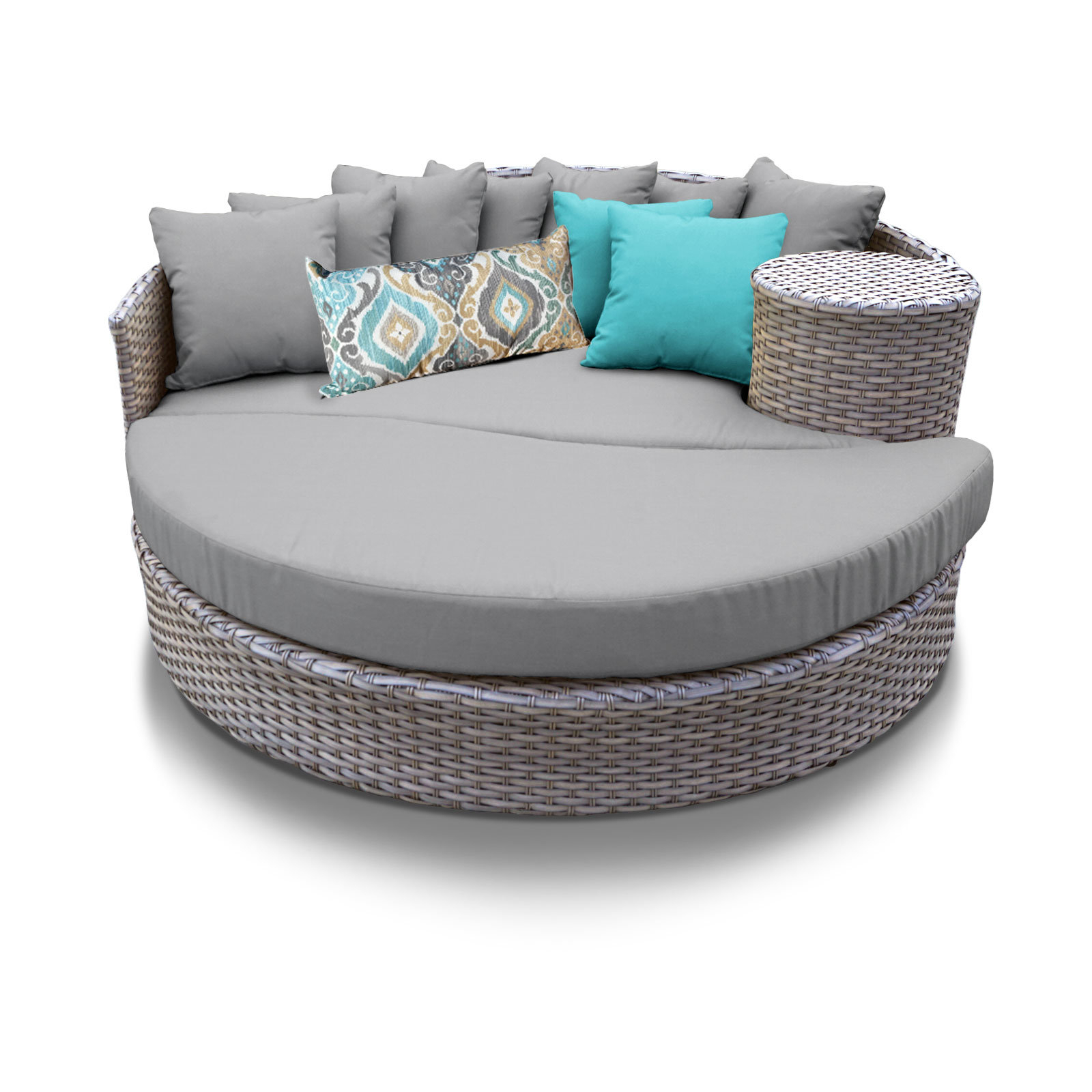 Medrano Patio Daybed With Cushions For Recent Brennon Cube Patio Daybeds With Cushions (View 19 of 25)
