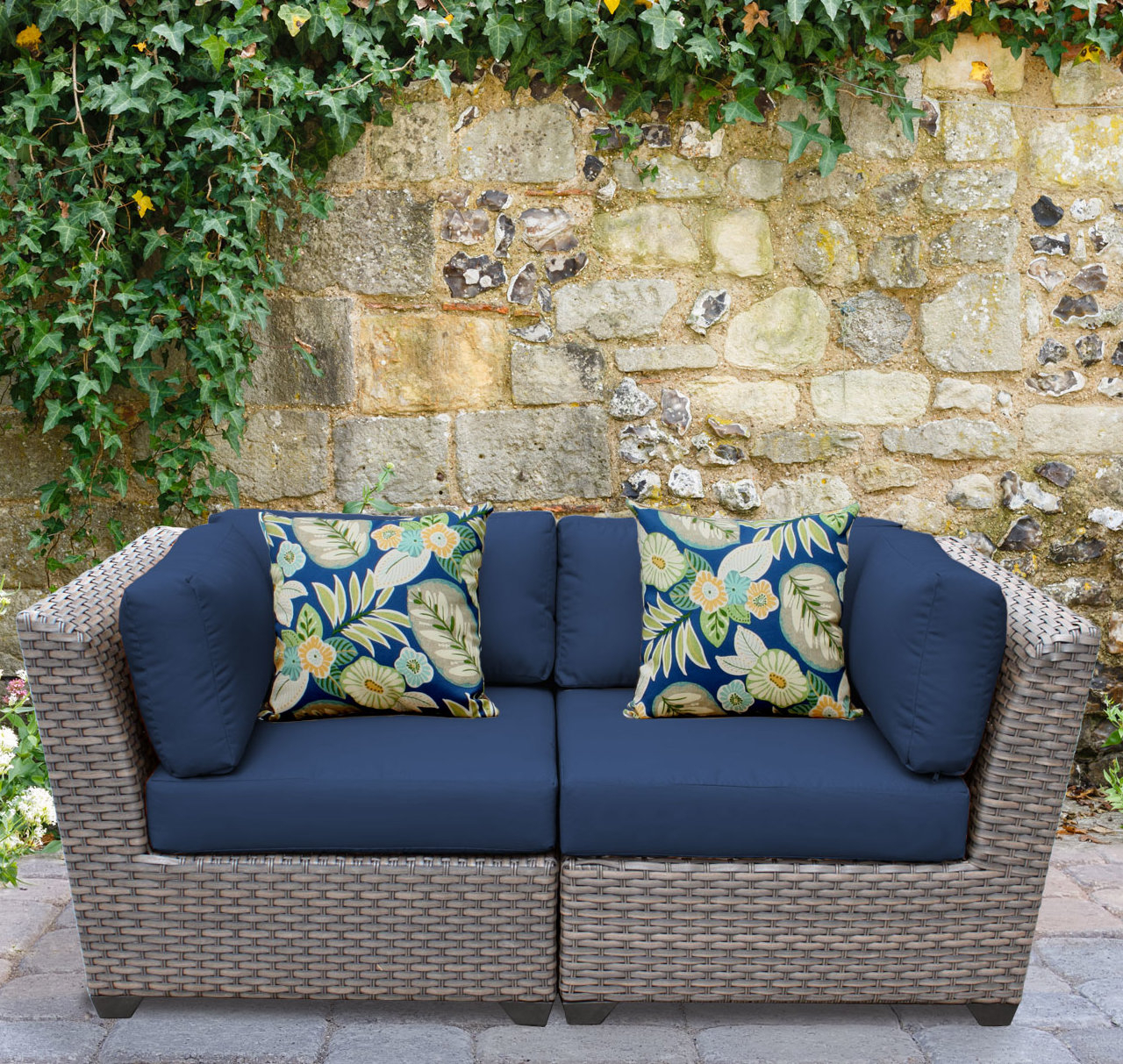 Meeks Patio Sofas With Cushions Intended For Most Up To Date Rosecliff Heights Meeks Patio Sofa With Cushions & Reviews (View 11 of 20)