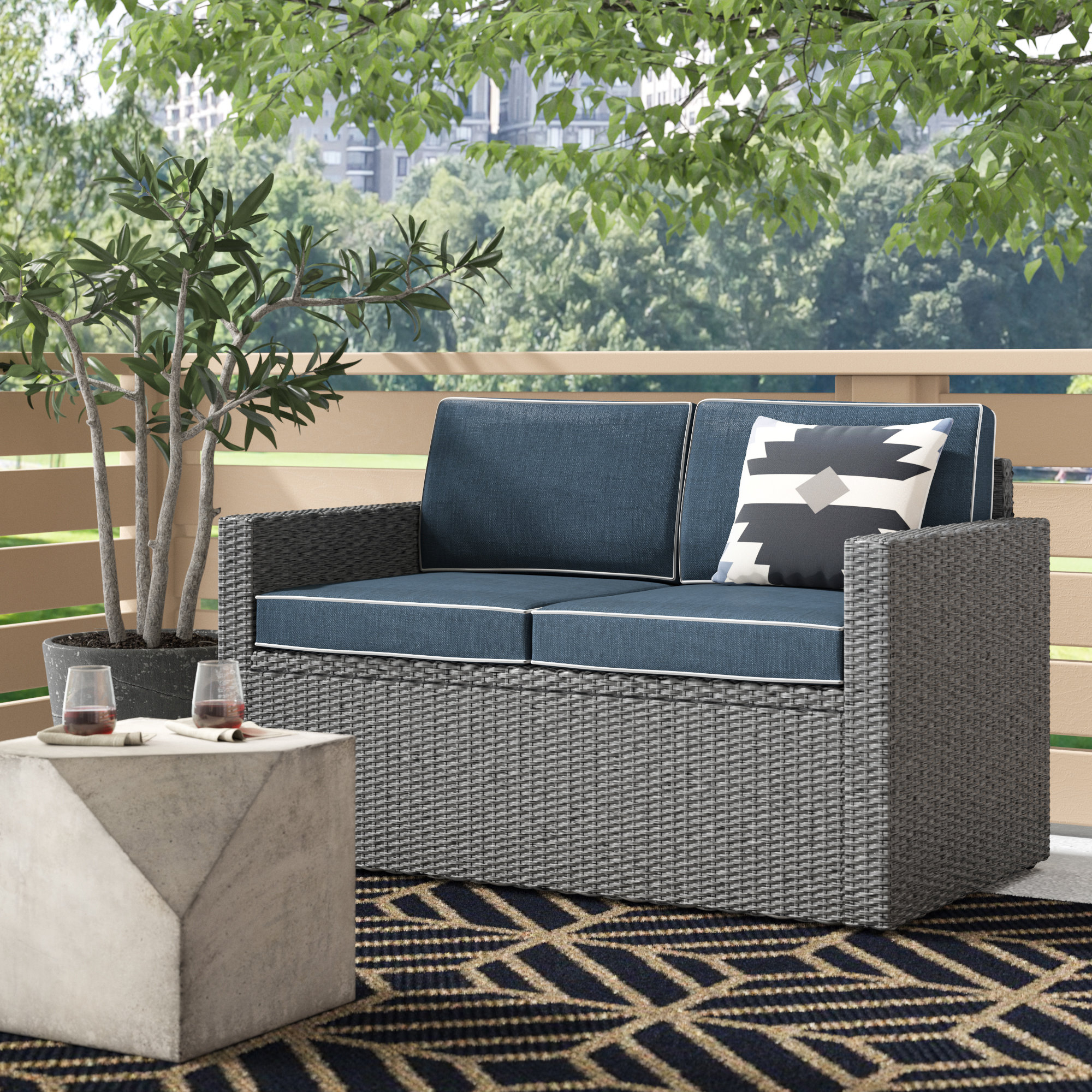 Mendelson Loveseat With Cushion With Favorite Mendelson Loveseats With Cushion (View 8 of 20)