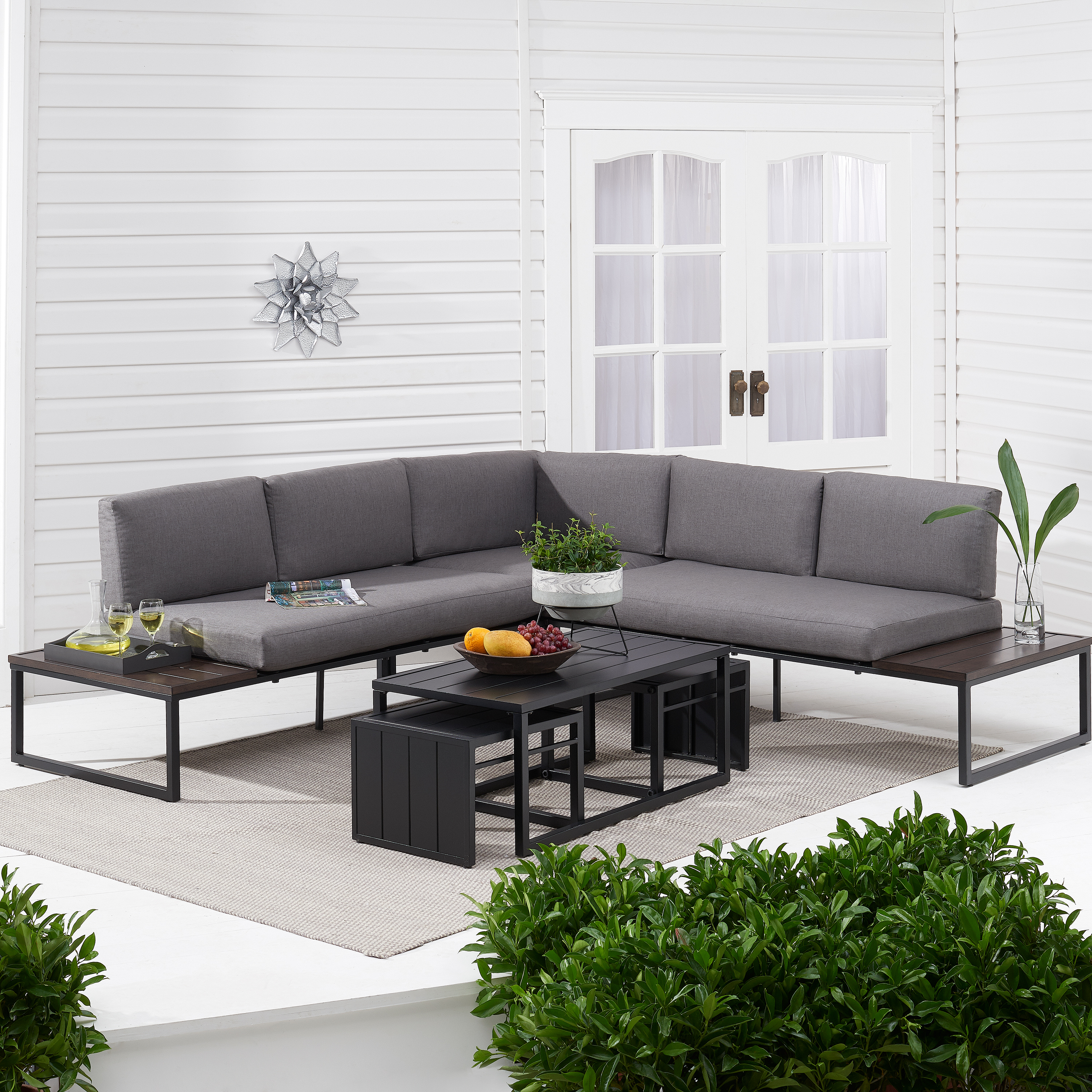 Michal Patio Sofas With Cushions Regarding Best And Newest Better Homes & Gardens Kolton 3 Piece Patio Sectional Set (View 3 of 20)