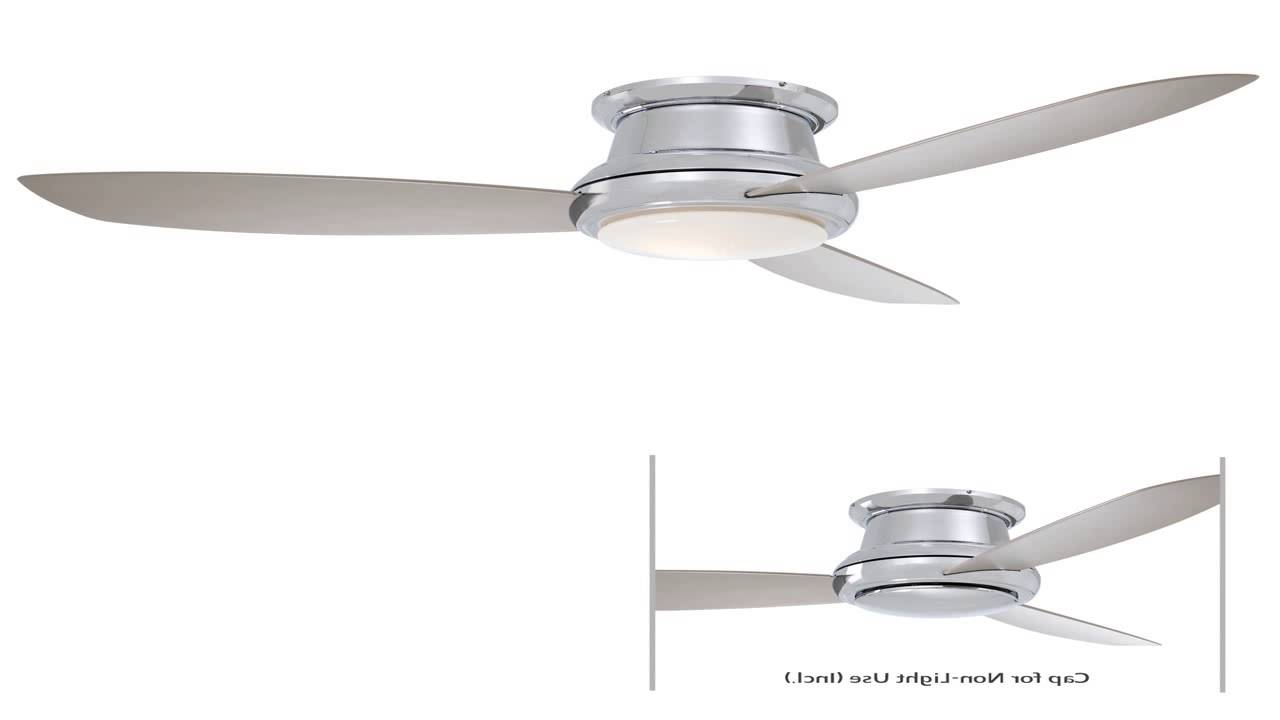 Minka Aire F518 Bn 44 Inch Concept Ii Flush Mount Ceiling Fan Brushed Nicke With Latest Concept Ii 3 Blade Ceiling Fans (View 12 of 20)