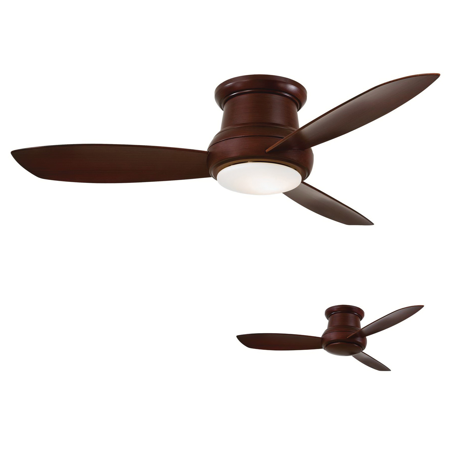 Minka Aire F519L Mg Ceiling Fan With Light 52 Inch 3 Blade 3 Within Most Popular Concept Ii 3 Blade Ceiling Fans (View 15 of 20)