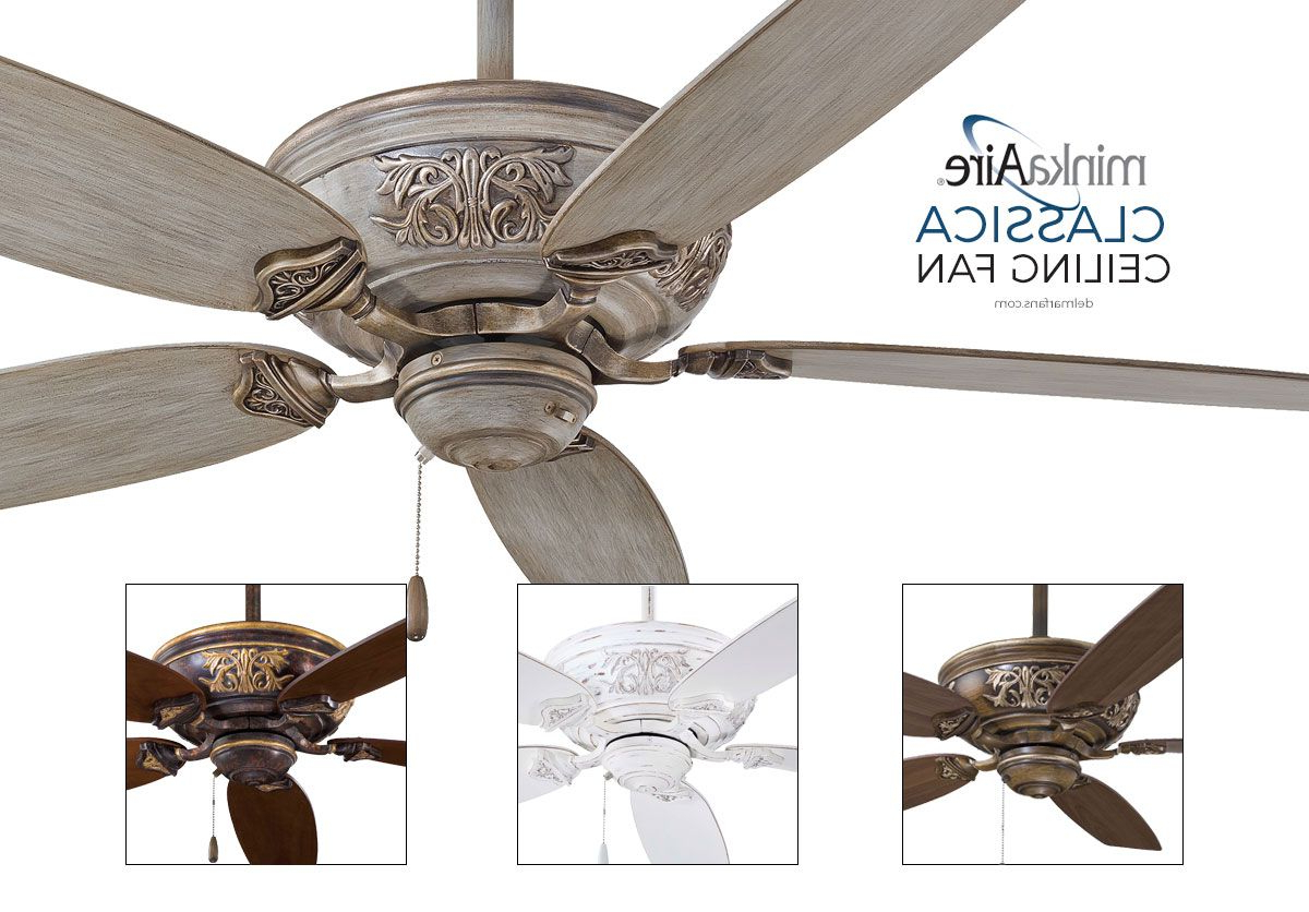 Minka Aire F659 Drf, Classica Driftwood Energy Star 54 Throughout Most Current Classica 5 Blade Ceiling Fans (View 13 of 20)