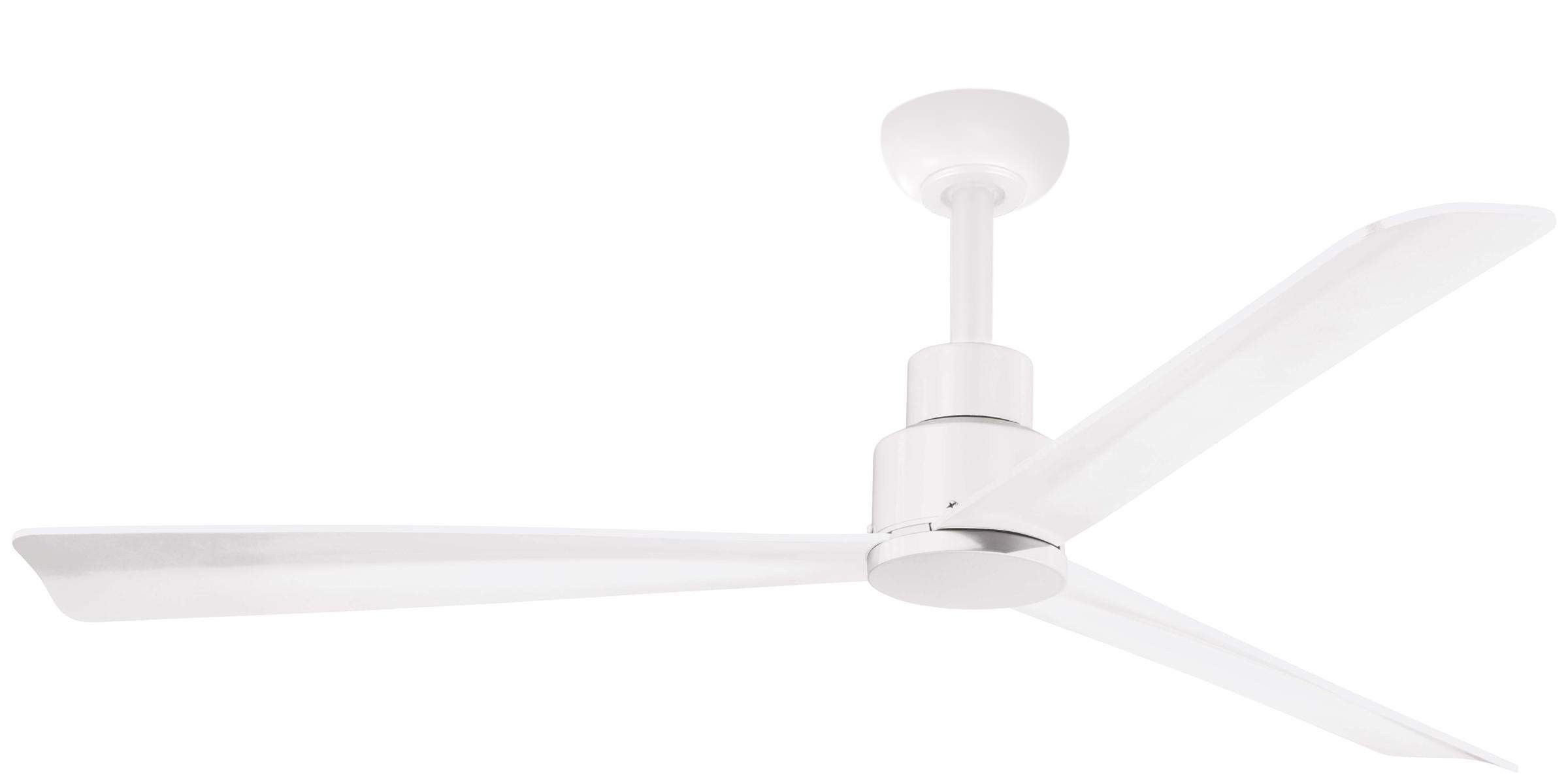 Minka Aire Simple Ceiling Fan Model F787 Whf In Flat White In Most Current Wave 3 Blade Ceiling Fans With Remote (View 6 of 20)