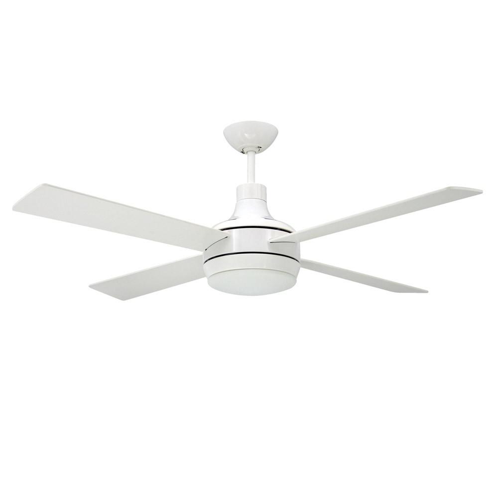 Modern 4 Light Ceiling Fan For Recent Cason 4 Blade Ceiling Fans (View 10 of 20)