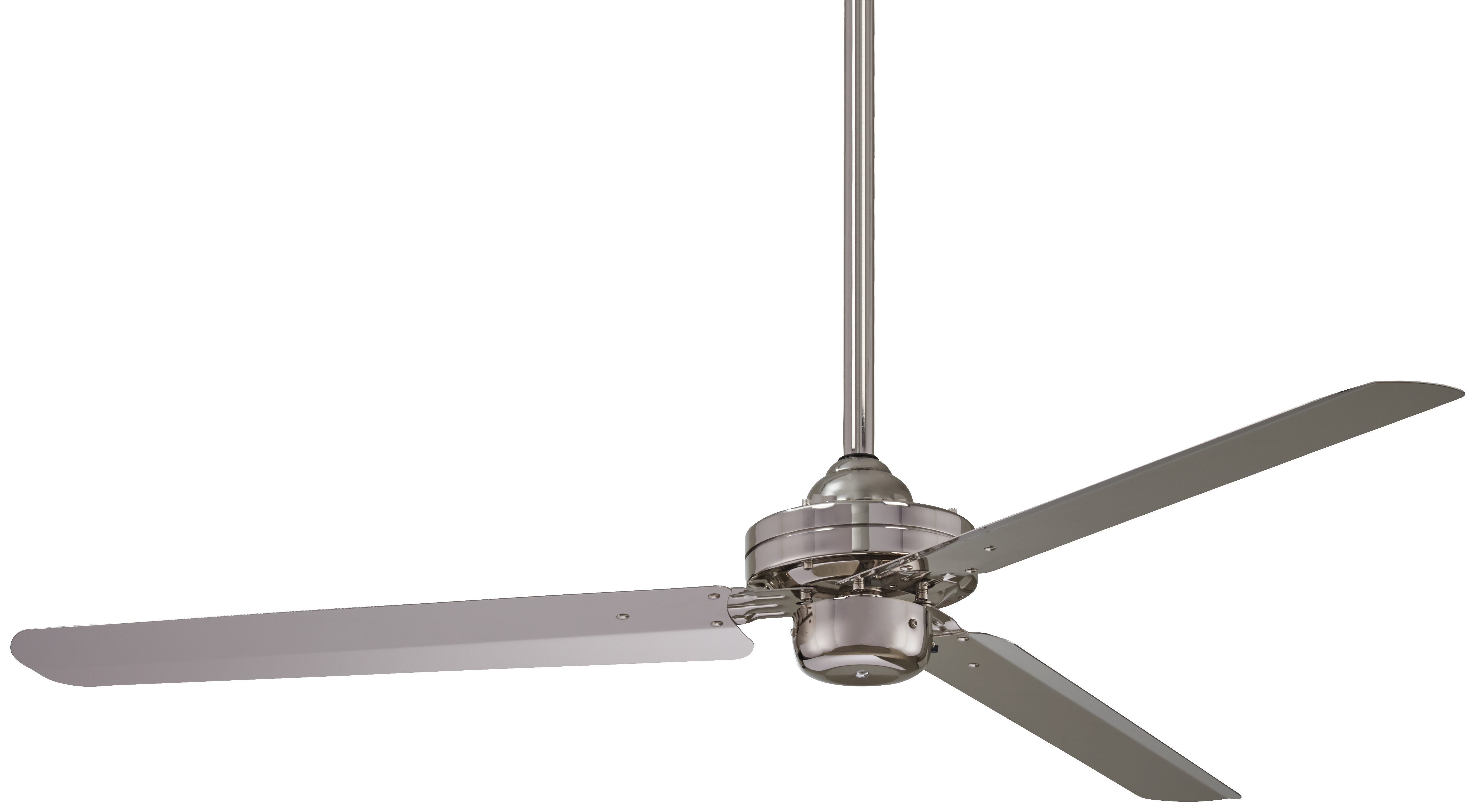 Modern Brushed Nickel Ceiling Fans (View 6 of 20)