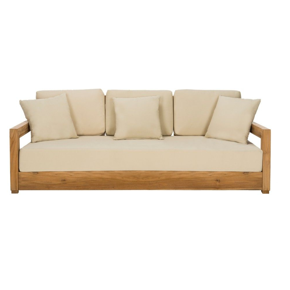Montford Teak 3 Seat Bench Teak – Safavieh (View 10 of 20)