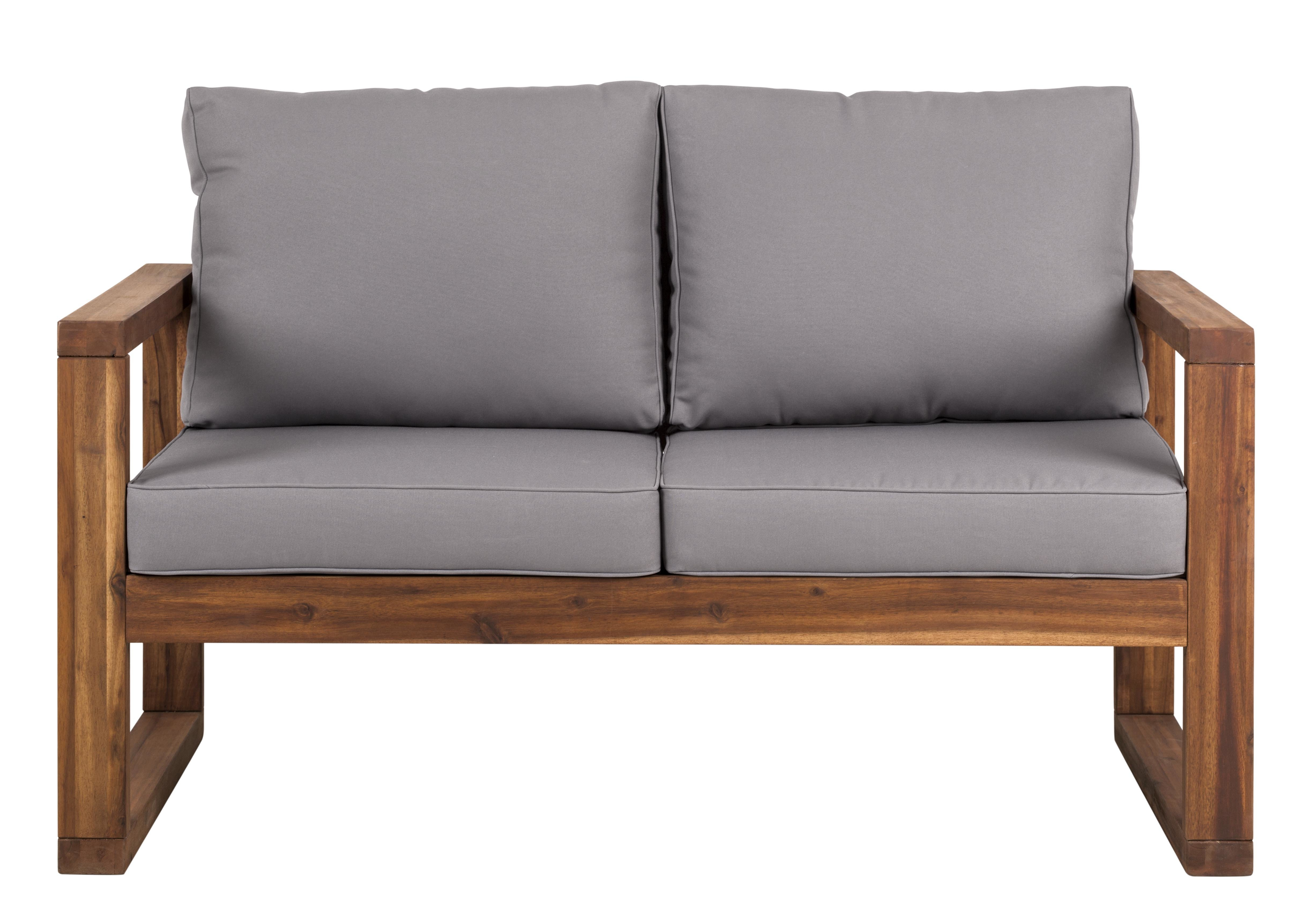 Montford Teak Loveseats With Cushions Within Newest Lyall Loveseat With Cushion (View 13 of 20)