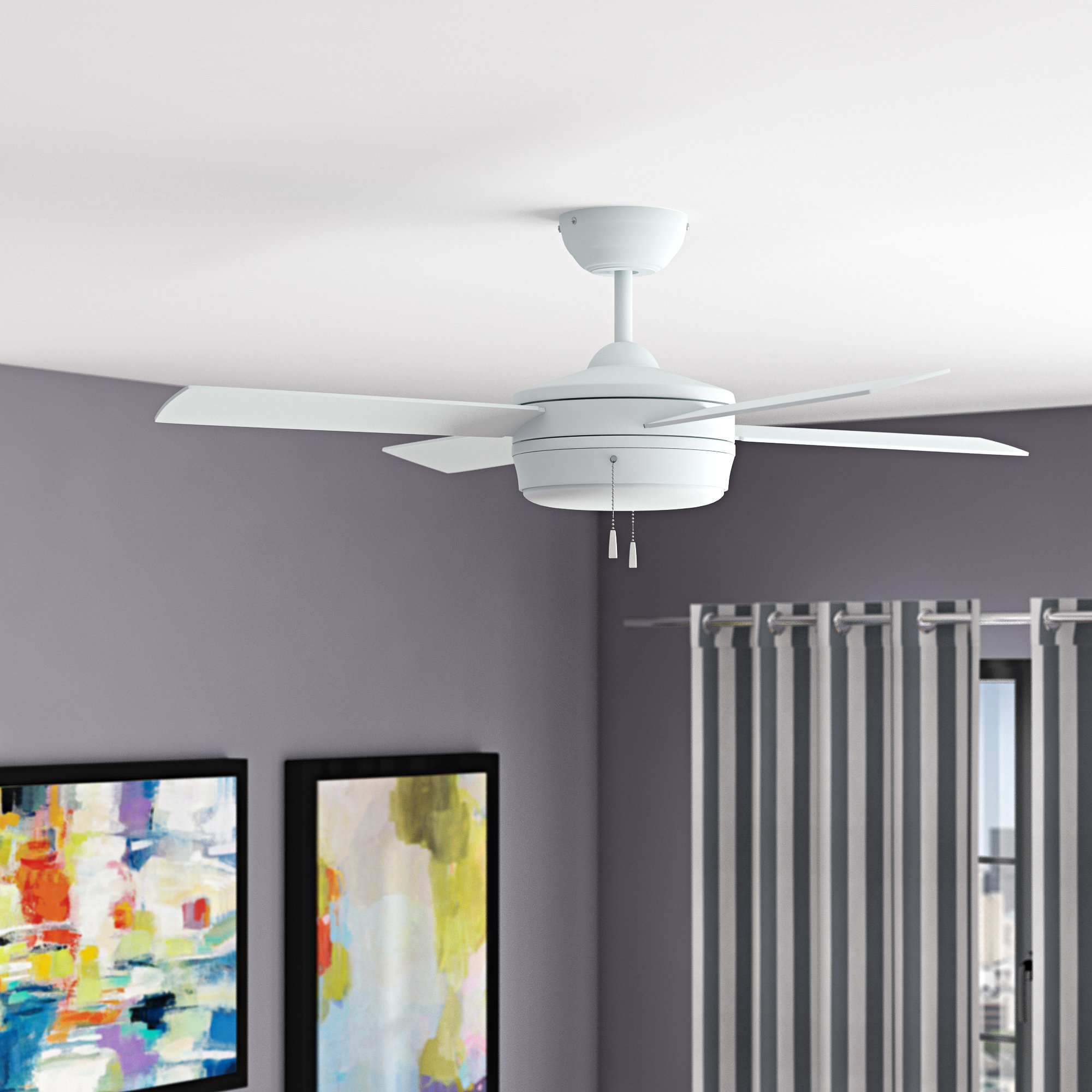 """Moriarty 44"""" 4 Blade Ceiling Fan Throughout Most Recently Released Stewardson 4 Blade Ceiling Fans (View 8 of 20)"""