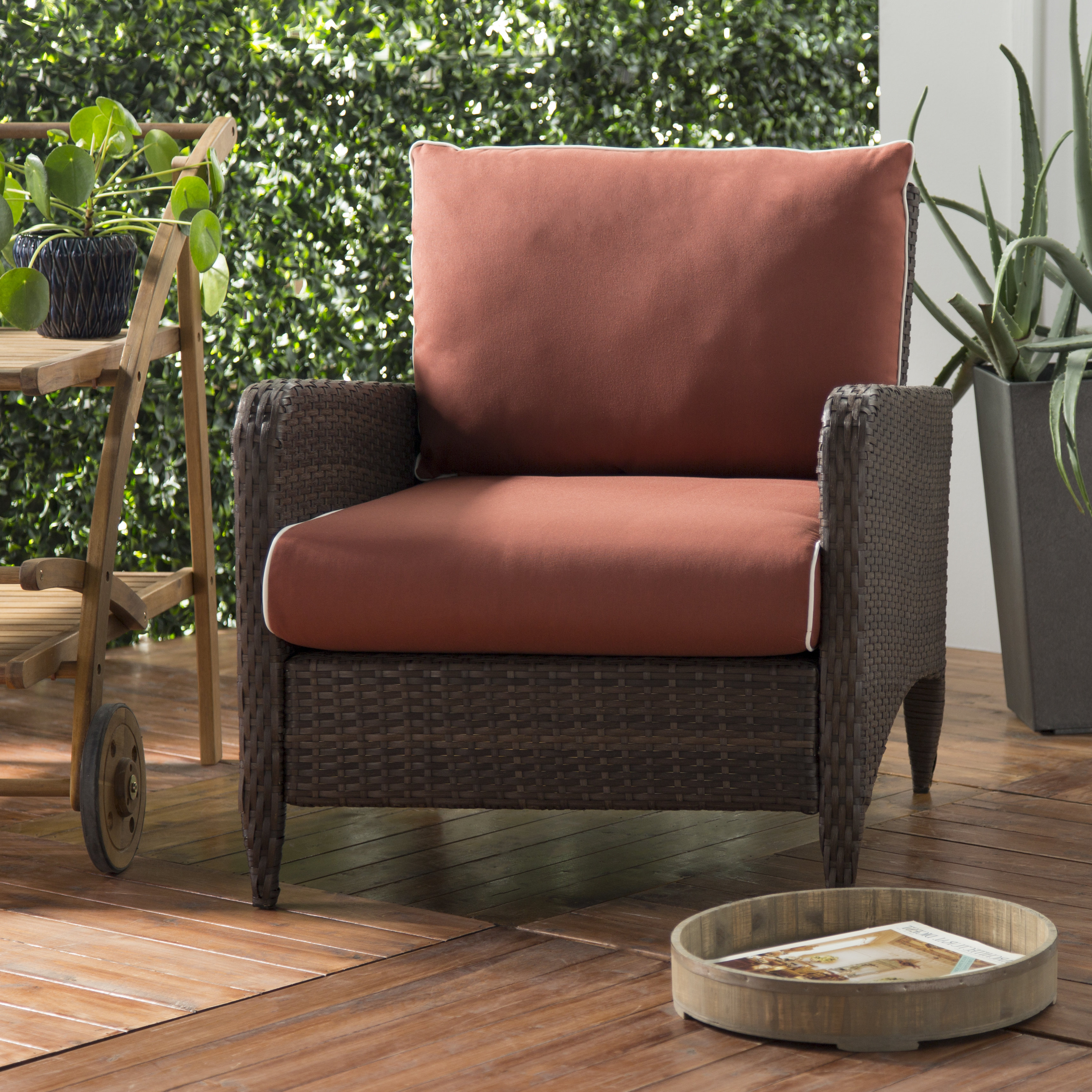 Mosca Patio Chair With Cushion With Regard To Trendy Mosca Patio Loveseats With Cushions (View 6 of 20)